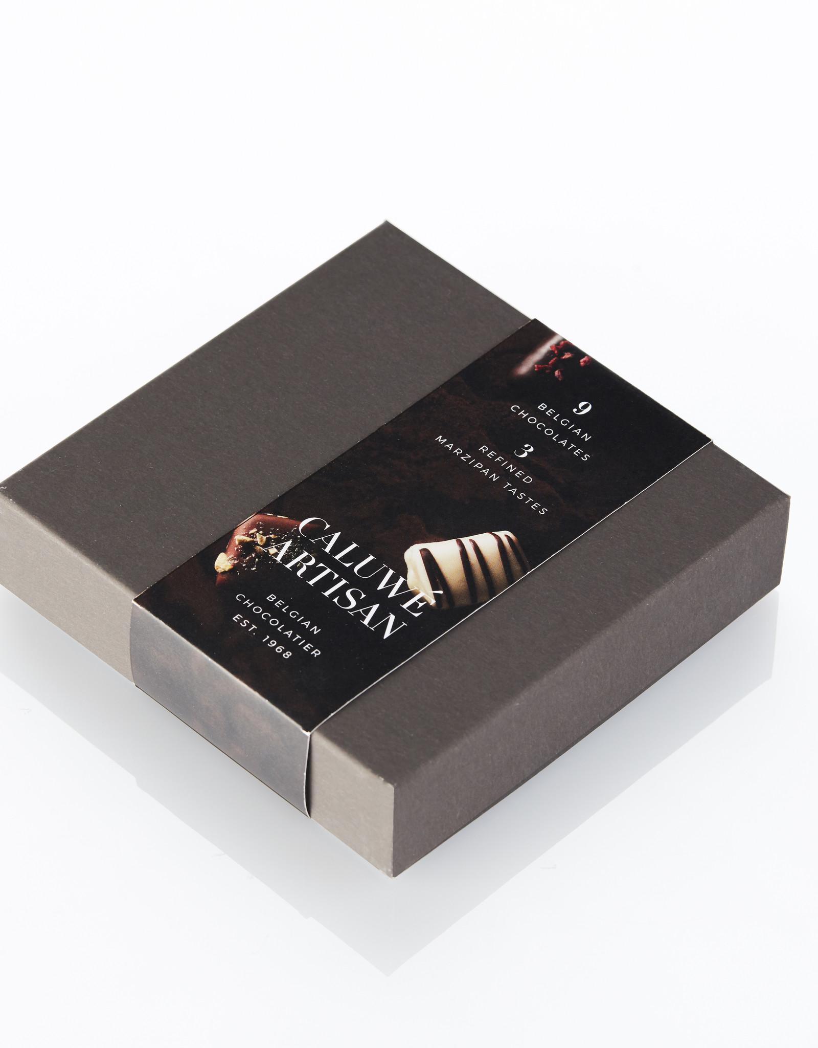 Caluwe Artisan Assortiment de 9 chocolats Belges au Massepain 125g