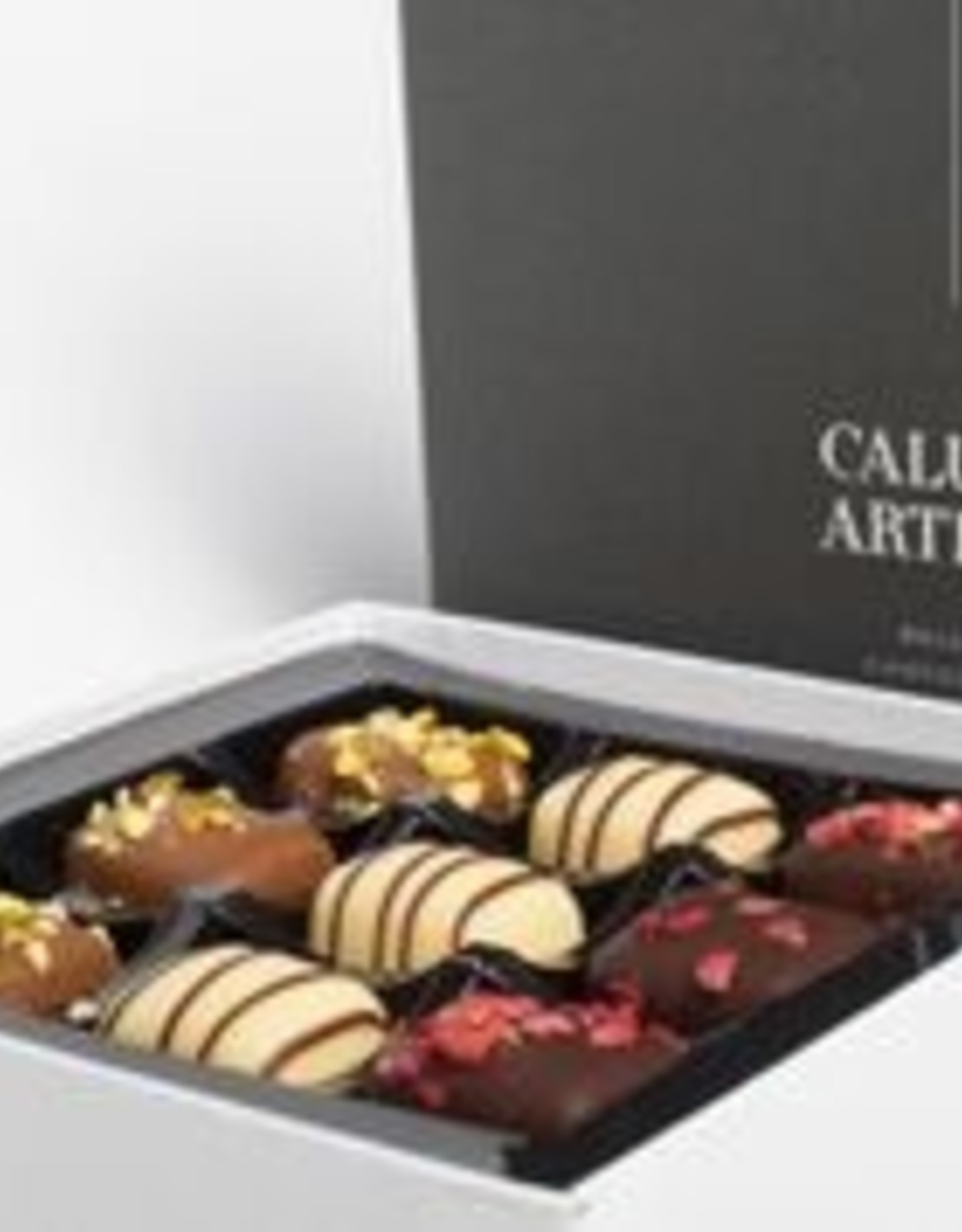 Caluwe Artisan Rigid box 125g - marsepein assortiment - UTZ
