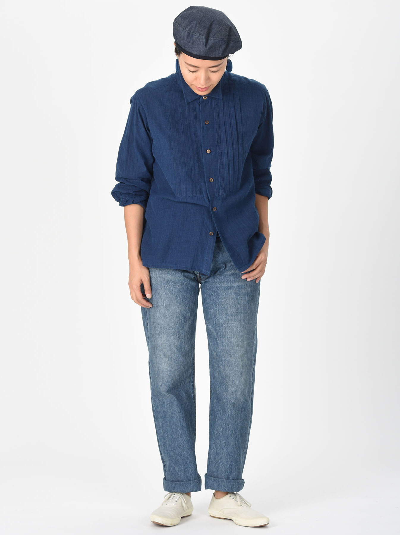 Ai Khadi Pin-tuck Shirt-2