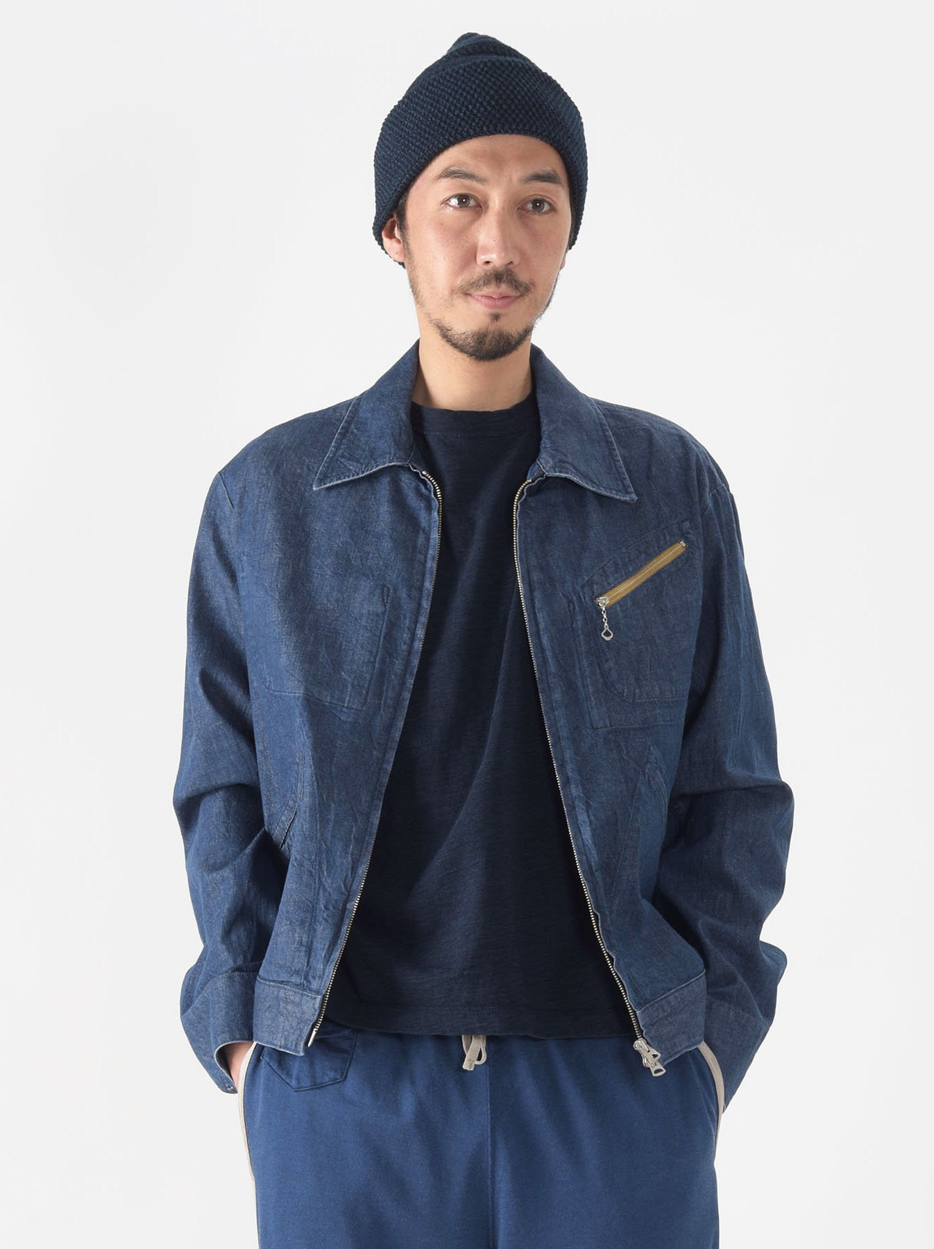 Distressed Mugi Denim Jacket-2