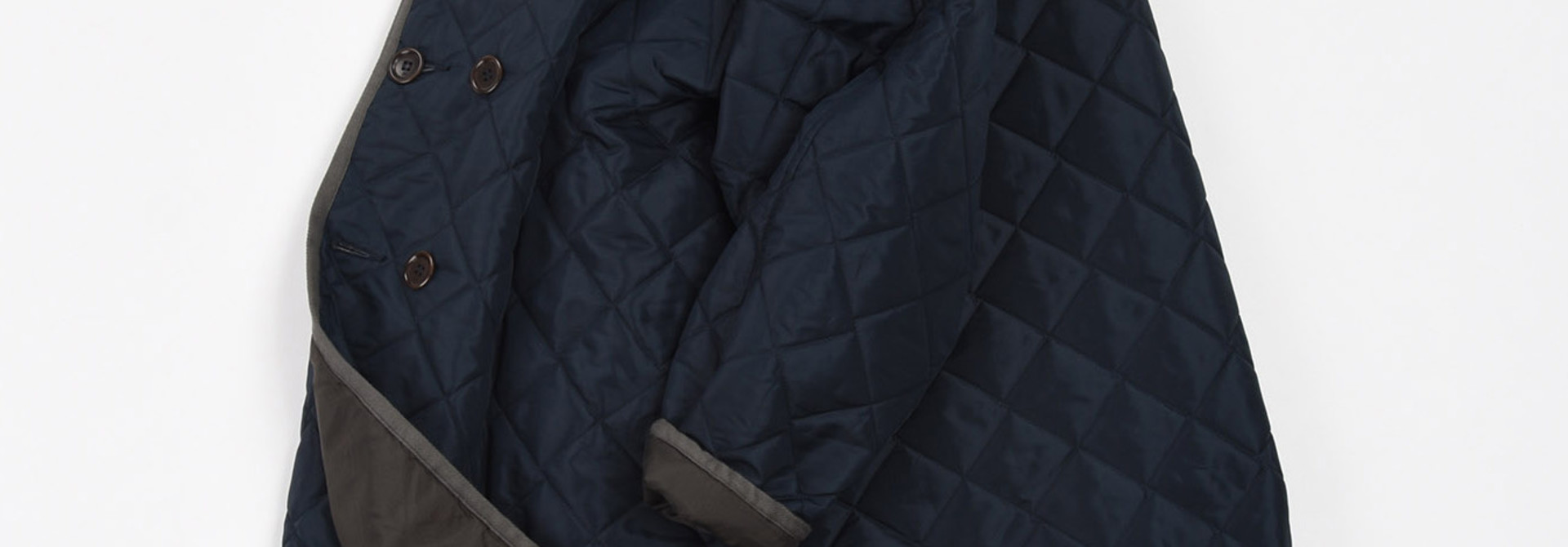 WH Thick Nylon Quilted Coat