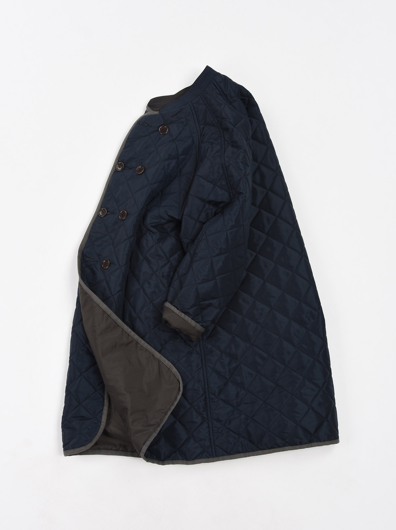 WH Thick Nylon Quilted Coat-1