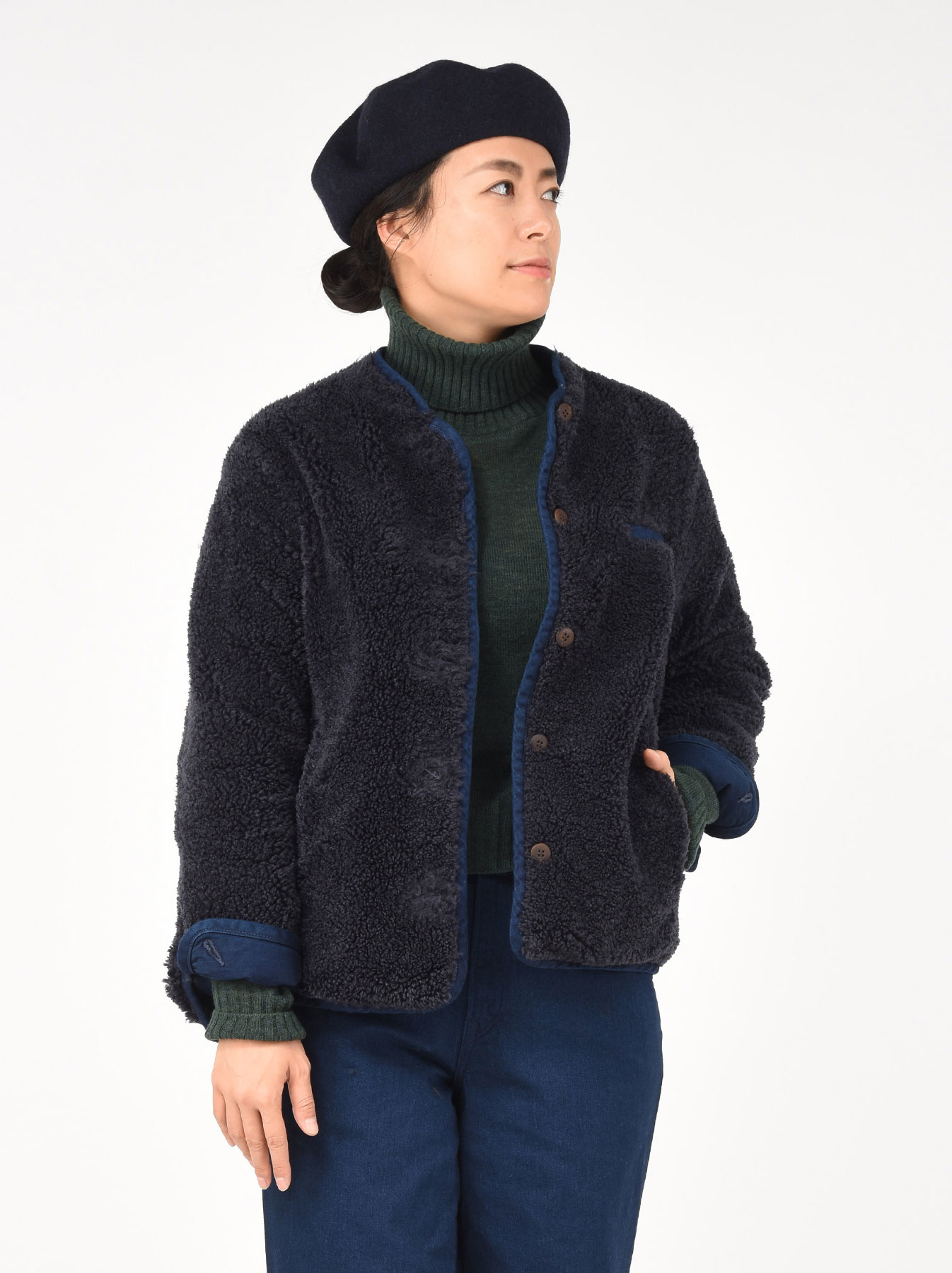 Okome Yoko-shusu Sheep Boa 908 Jacket-8