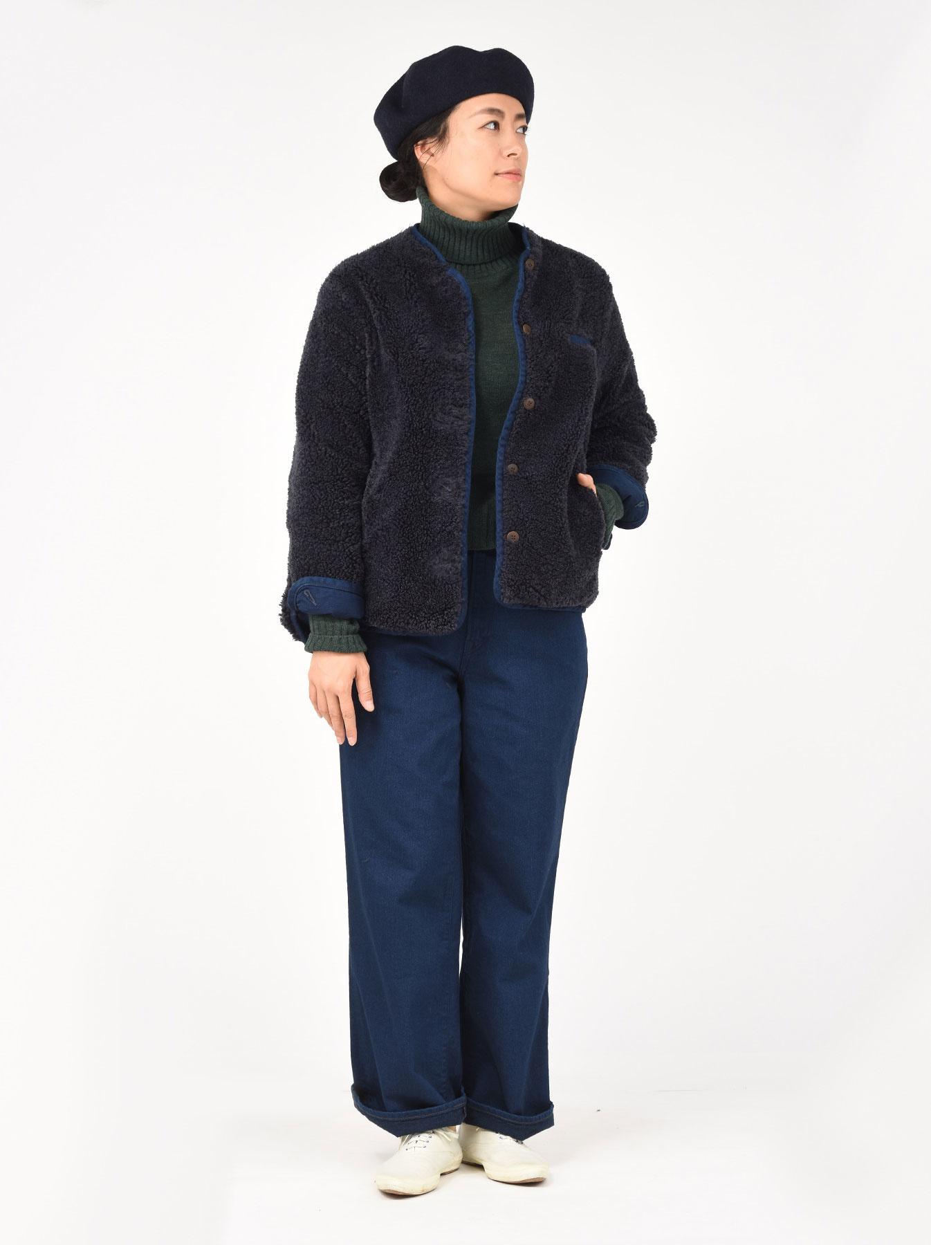 Okome Yoko-shusu Sheep Boa 908 Jacket-3