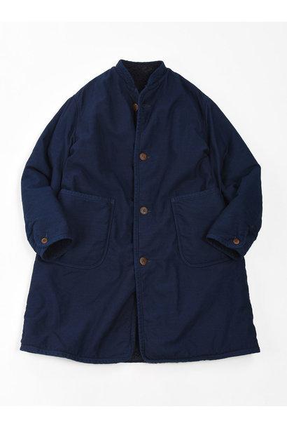 Indigo Mugi Yoko-shusu Sheep Boa 908 Coat