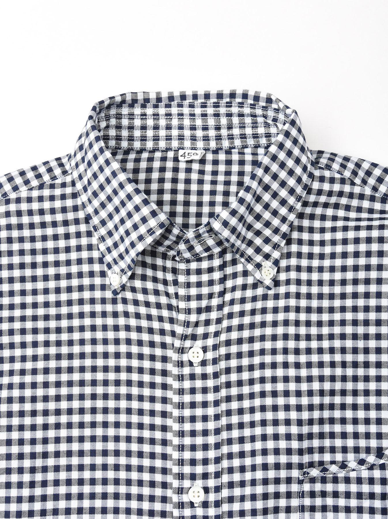Indigo Thin Oxford Button Down Shirt-7
