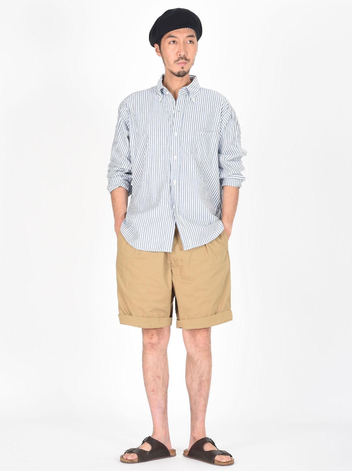Indigo Thin Oxford Button Down Shirt-2