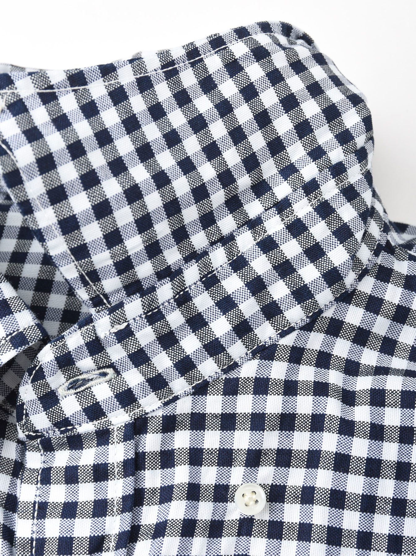 Indigo Thin Oxford Button Down Shirt-8