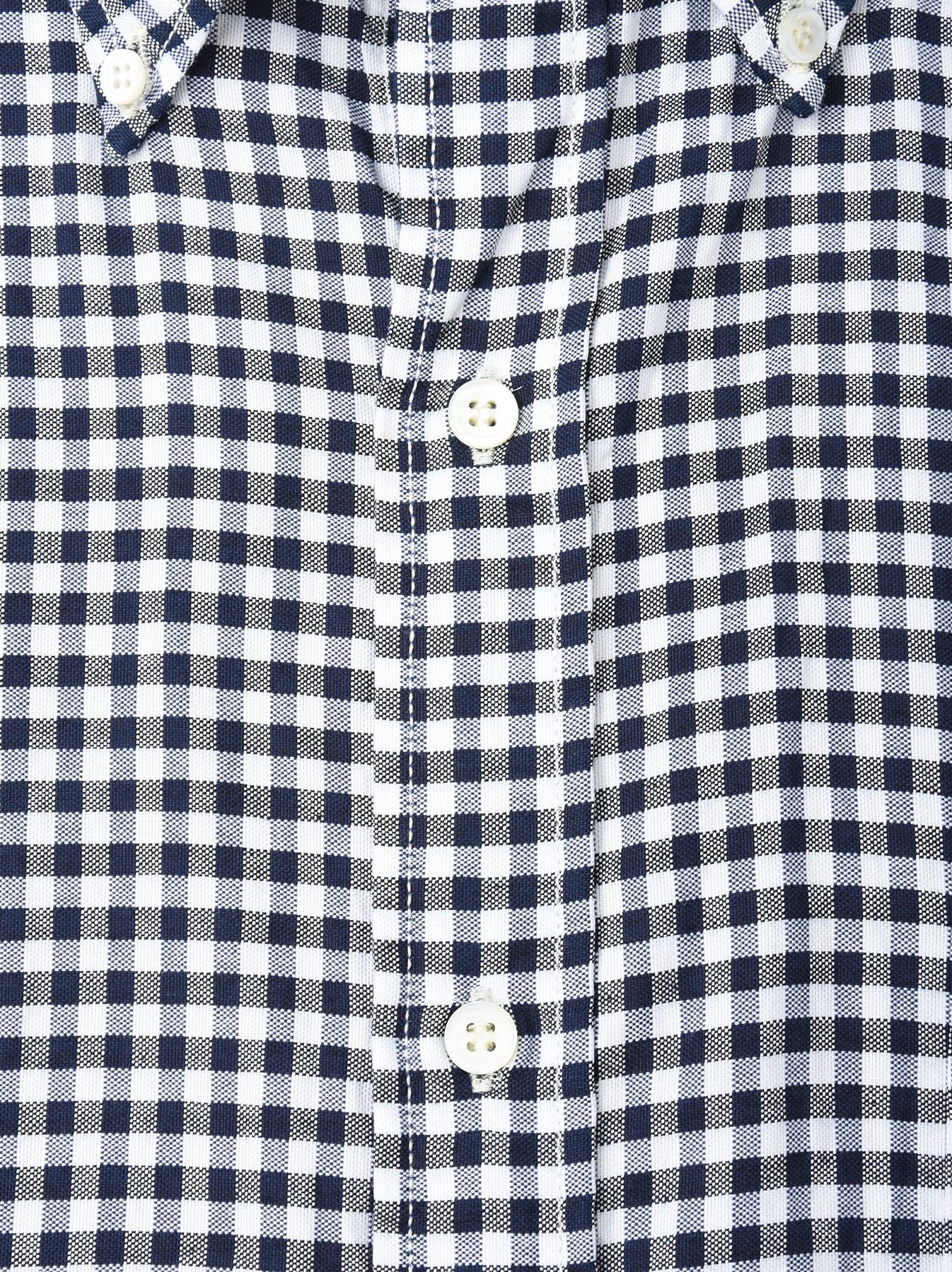 Indigo Thin Oxford Button Down Shirt-9