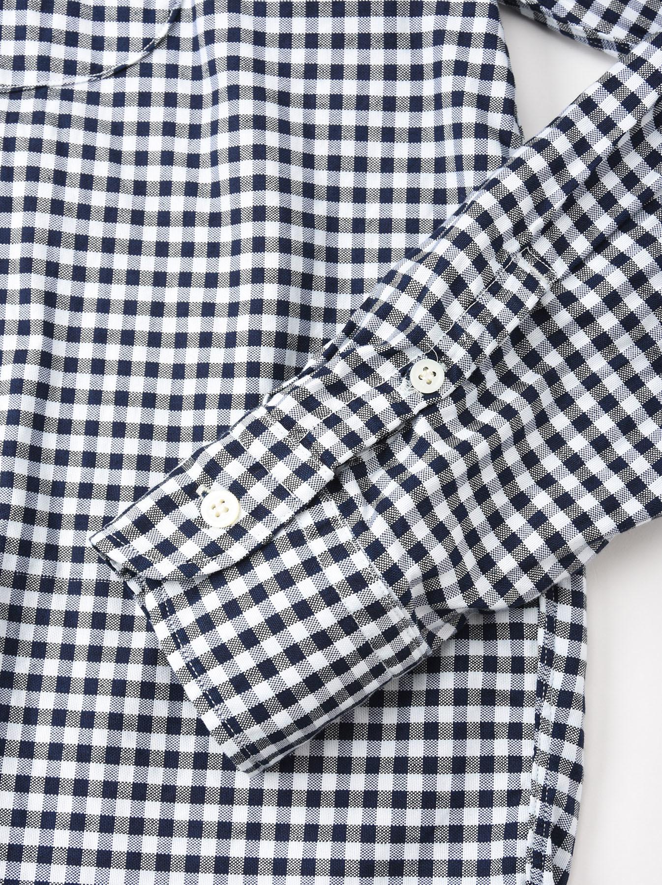 Indigo Thin Oxford Button Down Shirt-10