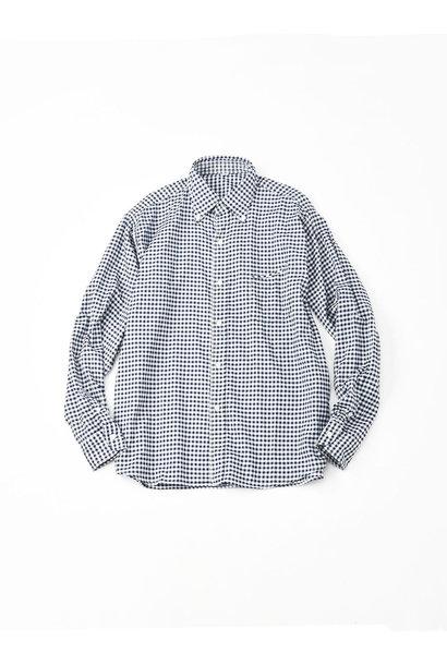 Indigo Thin Oxford Button Down Shirt