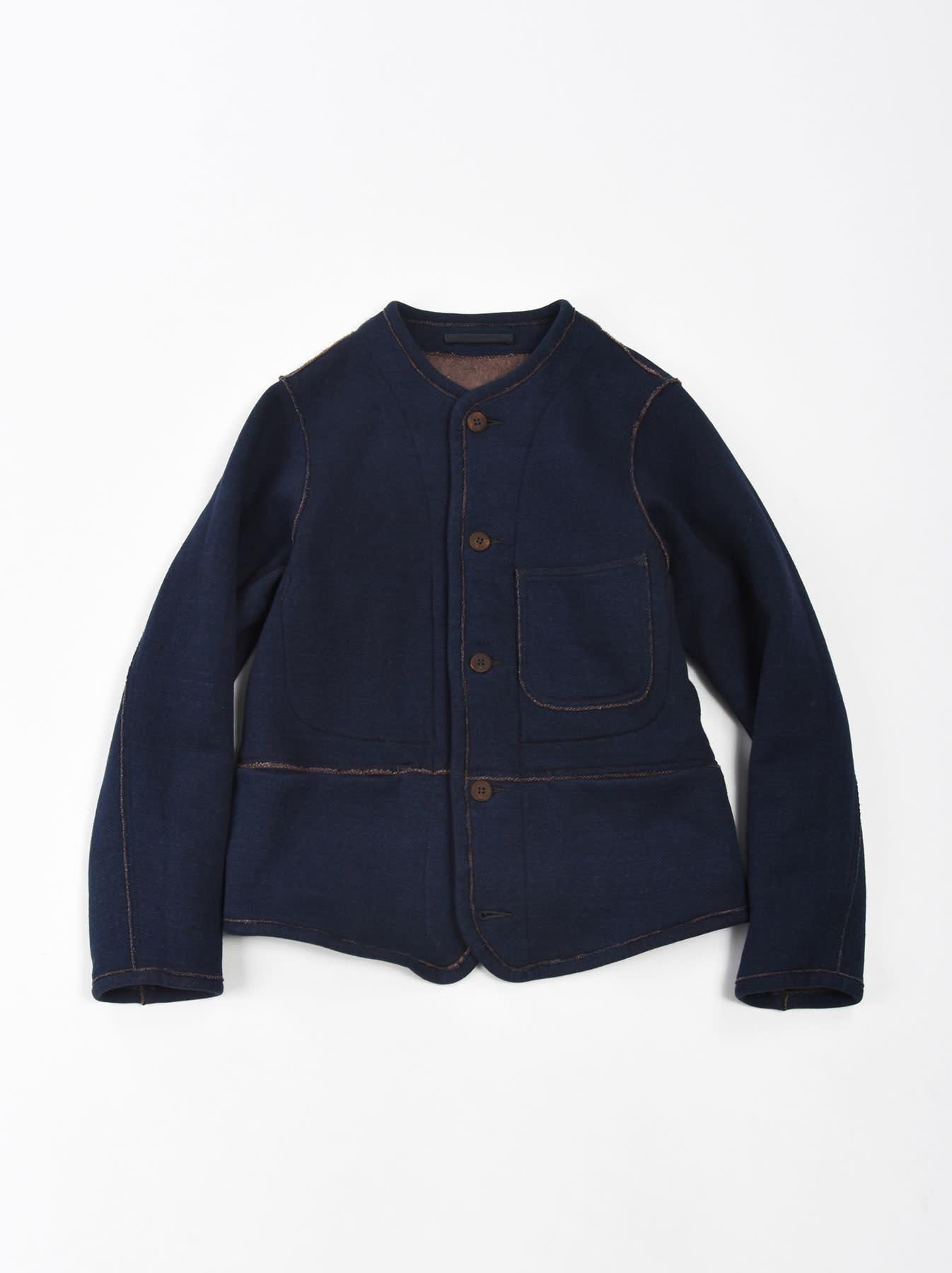Indigo Hokkaido Fleecy Liner Cardigan-1
