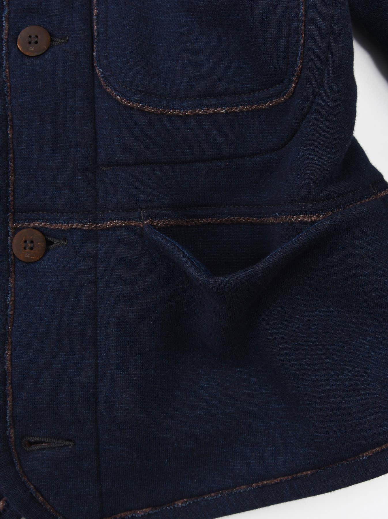Indigo Hokkaido Fleecy Liner Cardigan-10