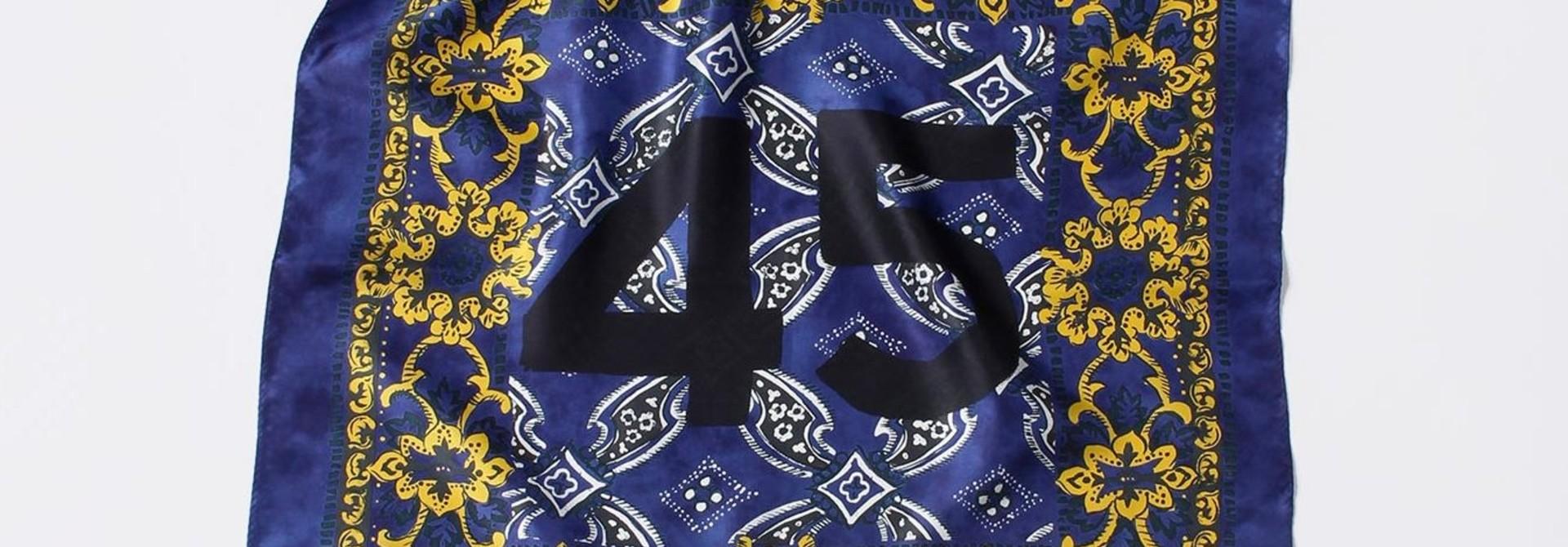Silk Flower Logo Bandana