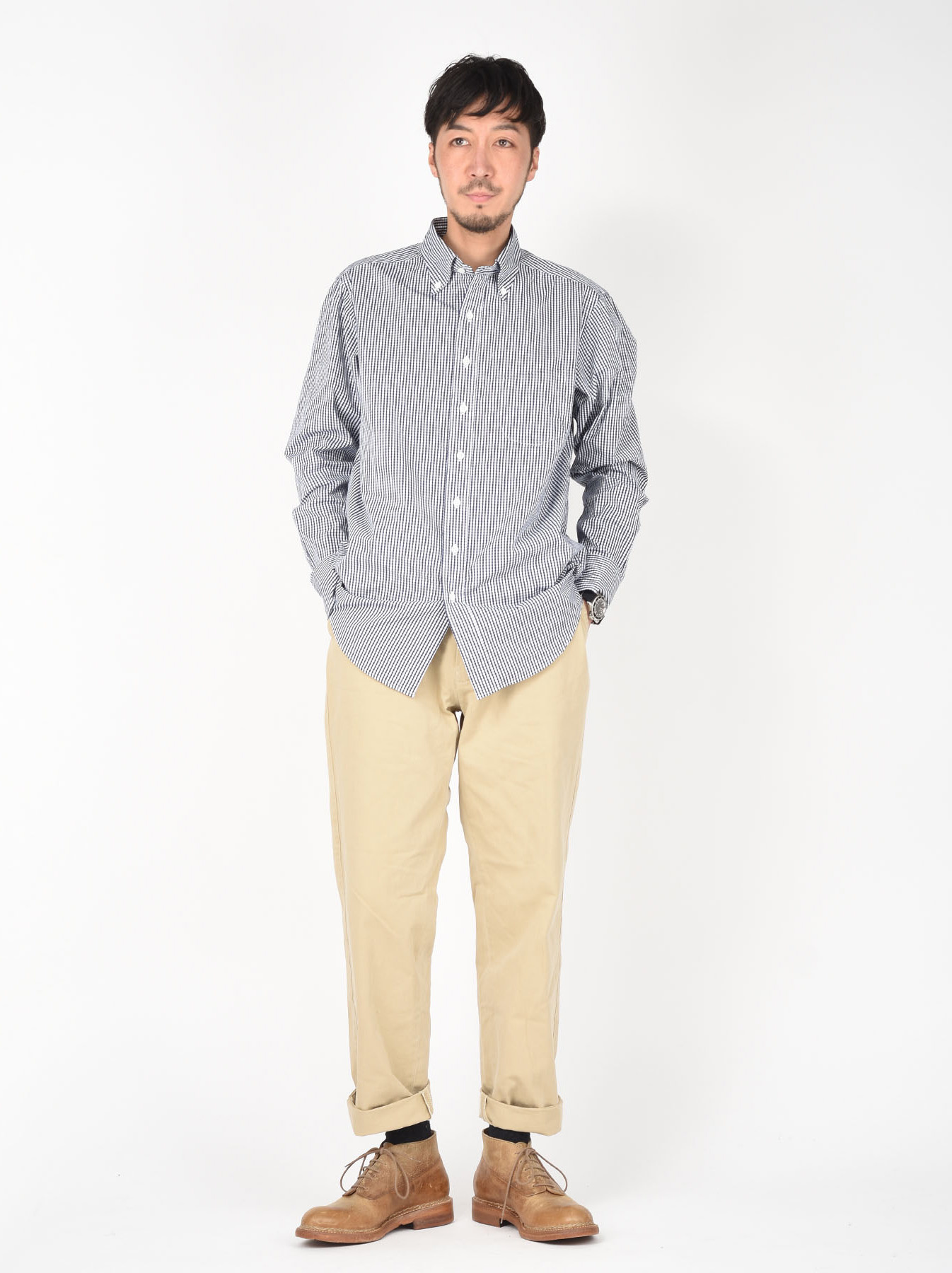 180/3 Suvin Cotton Button Down Shirt-2