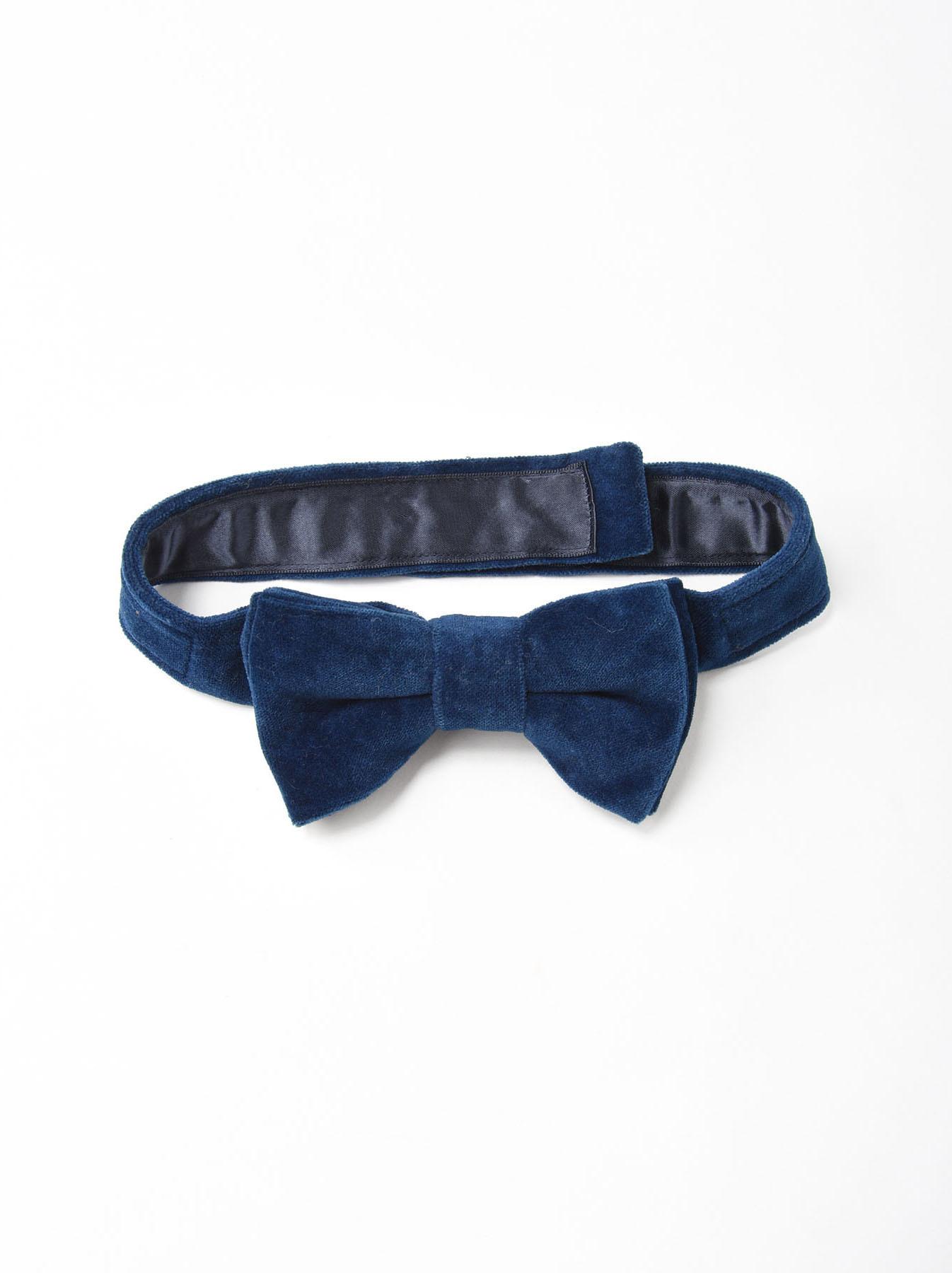 Indigo Velveteen Bow Tie-1