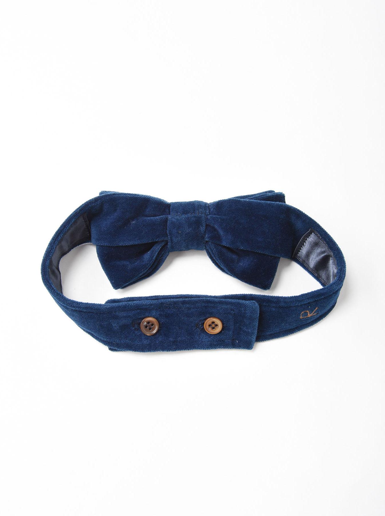Indigo Velveteen Bow Tie-2