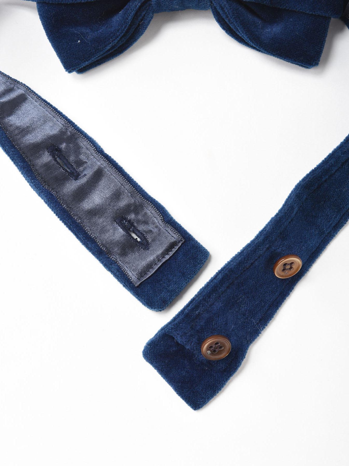 Indigo Velveteen Bow Tie-4