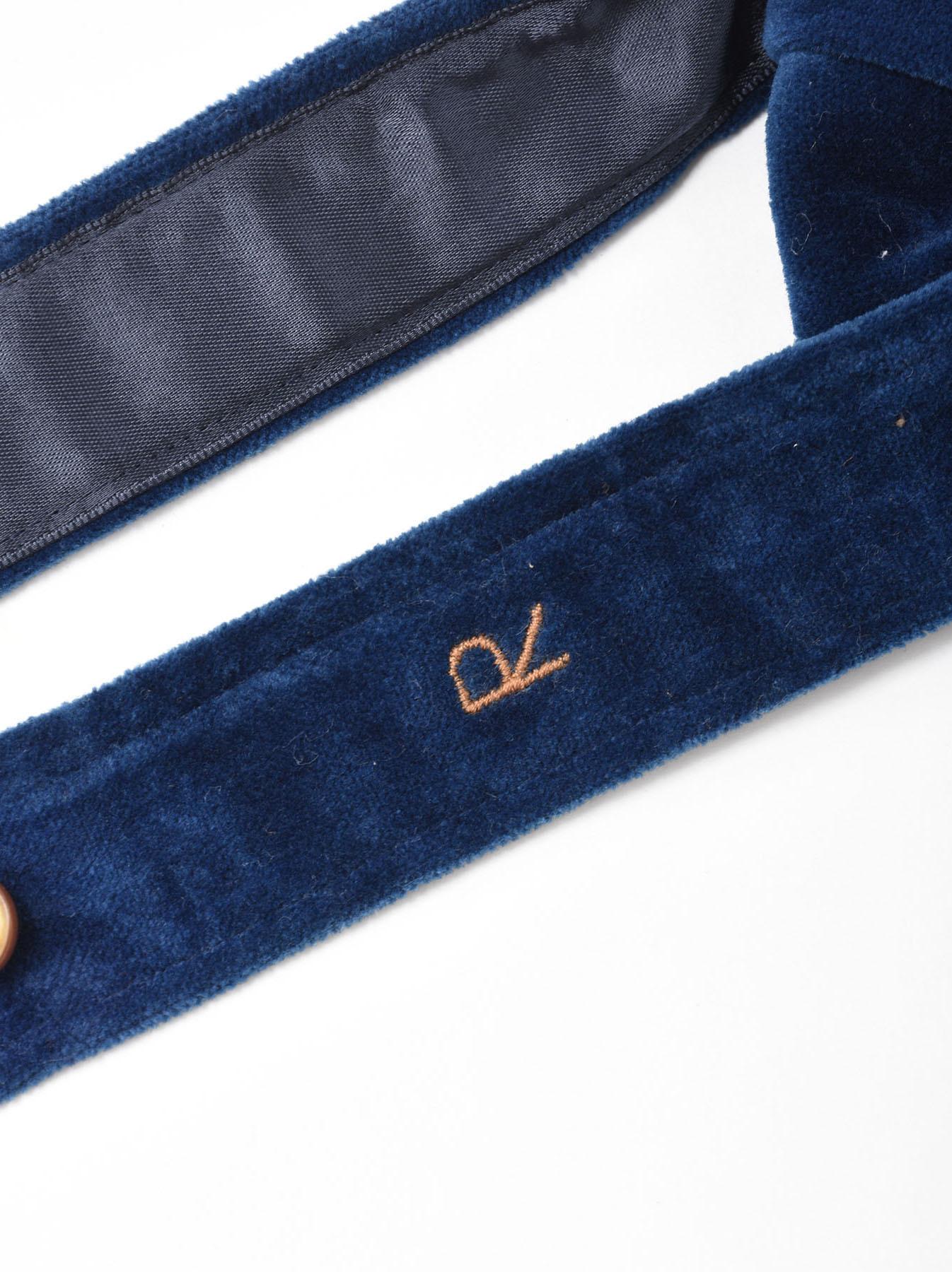 Indigo Velveteen Bow Tie-3