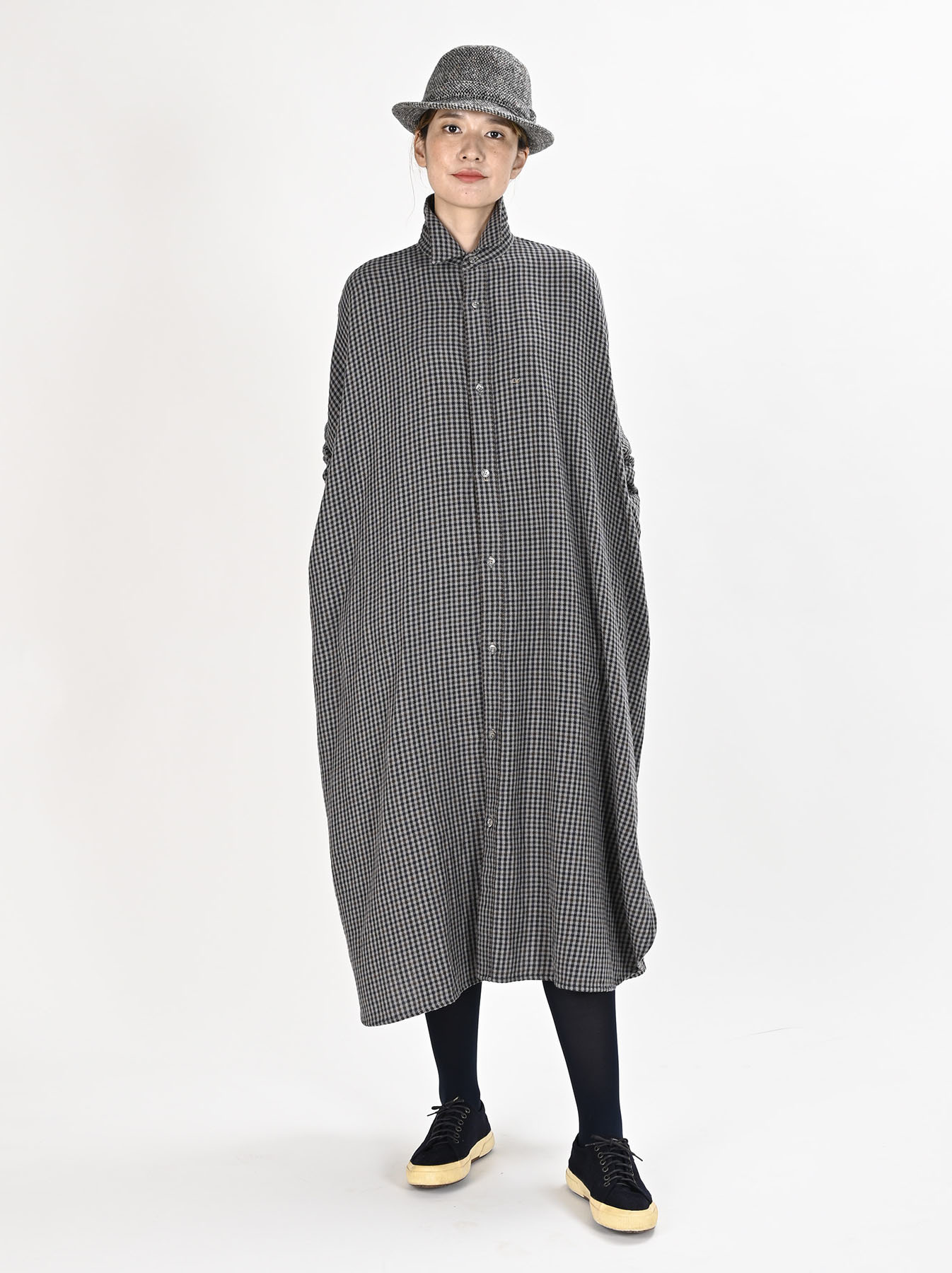 Indian Flannel Big Shirt Dress-2
