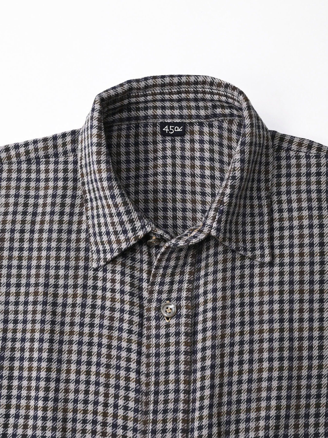 Indian Flannel Big Shirt Dress-6