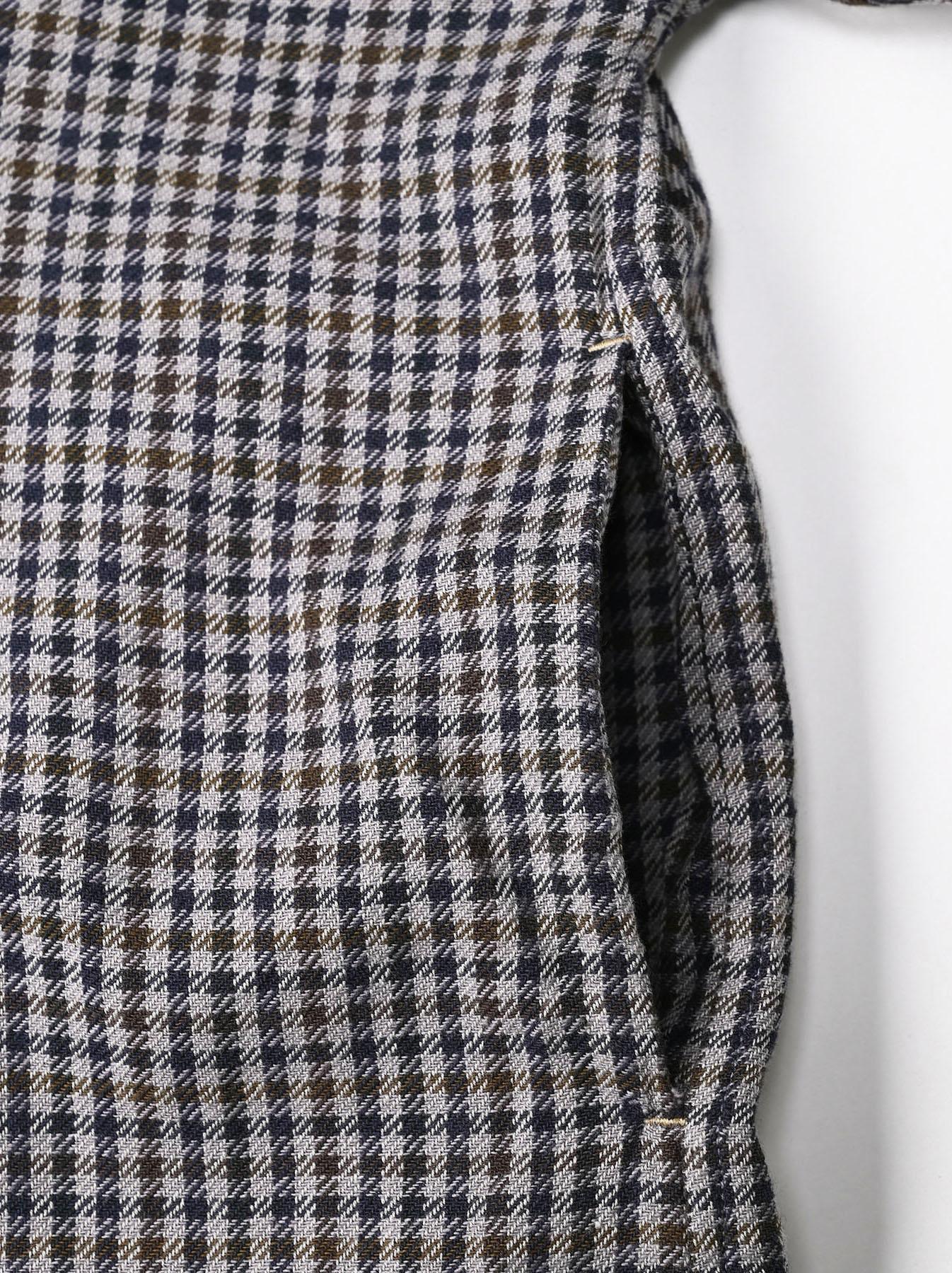 Indian Flannel Big Shirt Dress-9