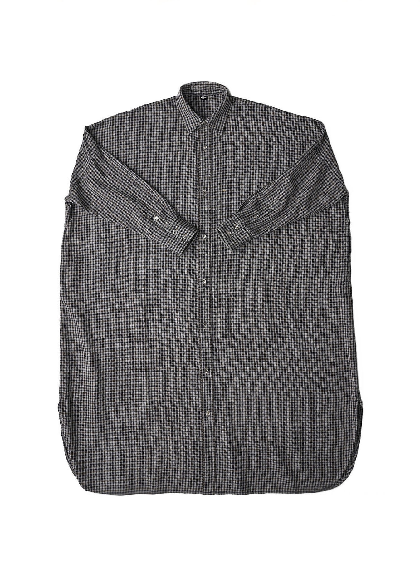 Indian Flannel Big Shirt Dress-5