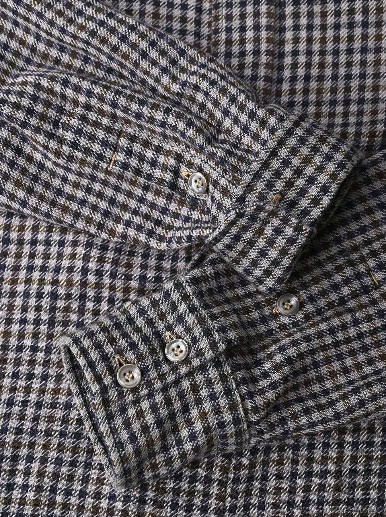 Indian Flannel Big Shirt Dress-10