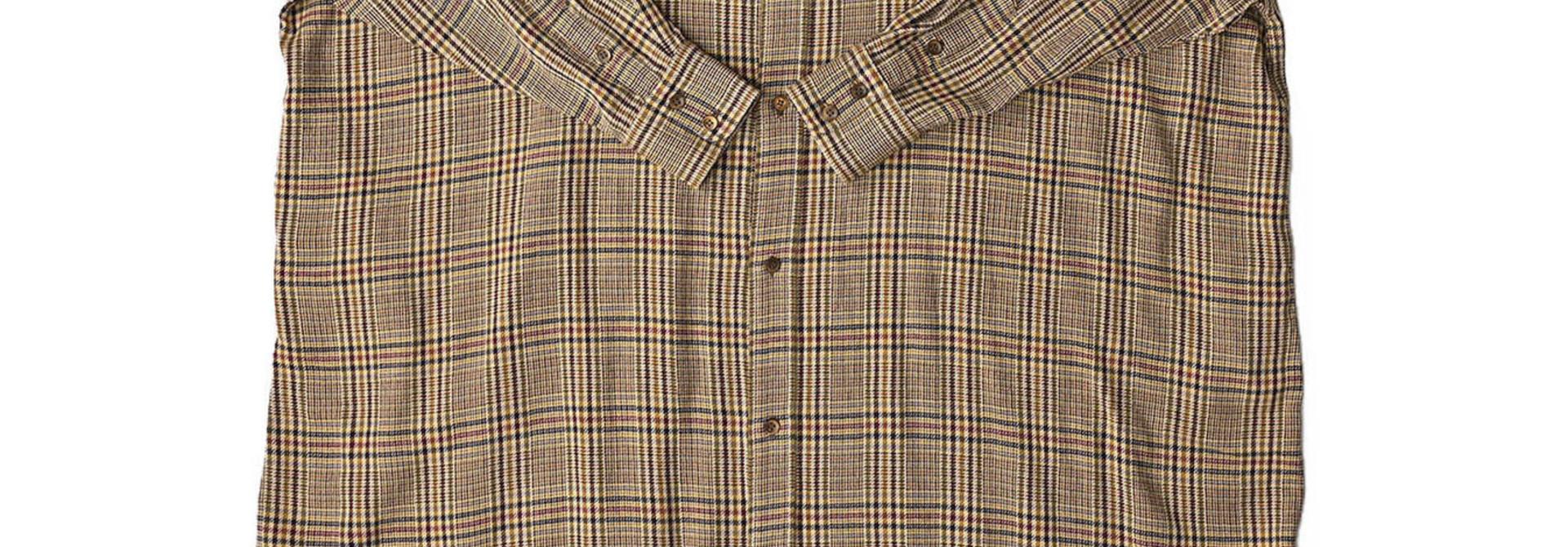 Indian Flannel Big Shirt Dress