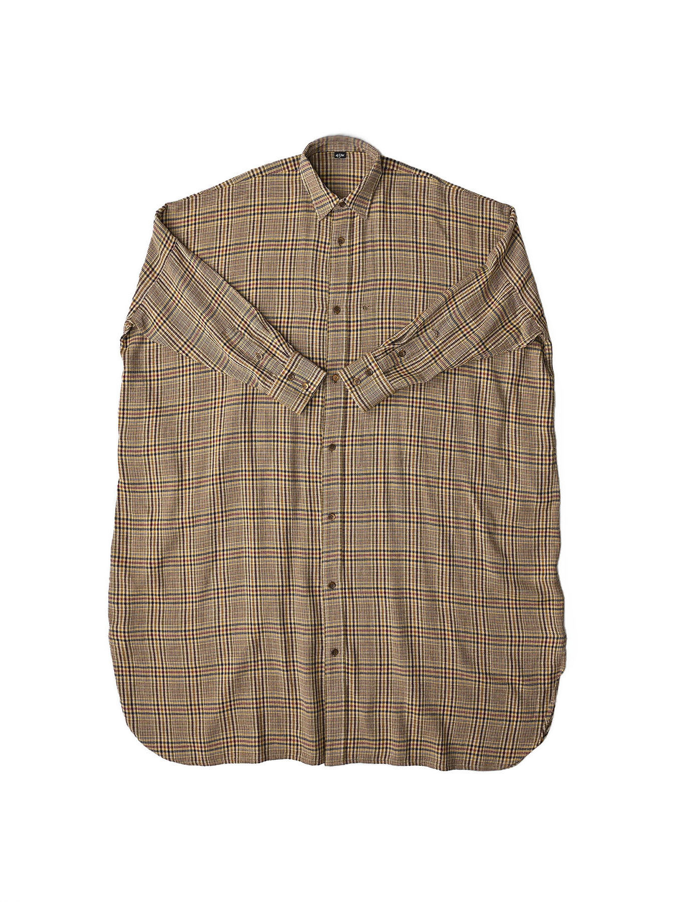 Indian Flannel Big Shirt Dress-1