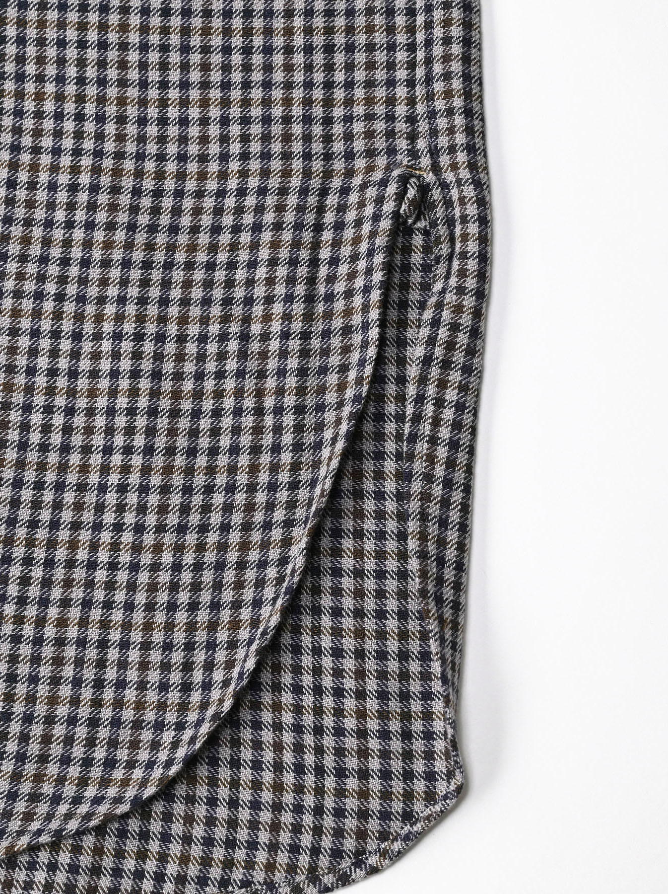 Indian Flannel Big Shirt Dress-11