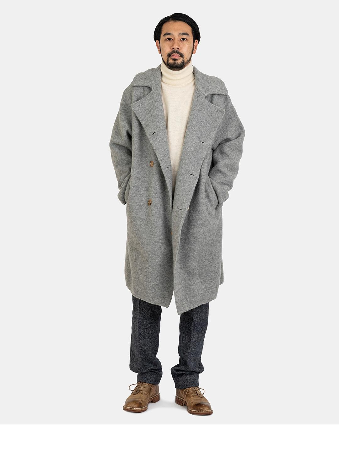 Boiled Wool 908 P-coat-2