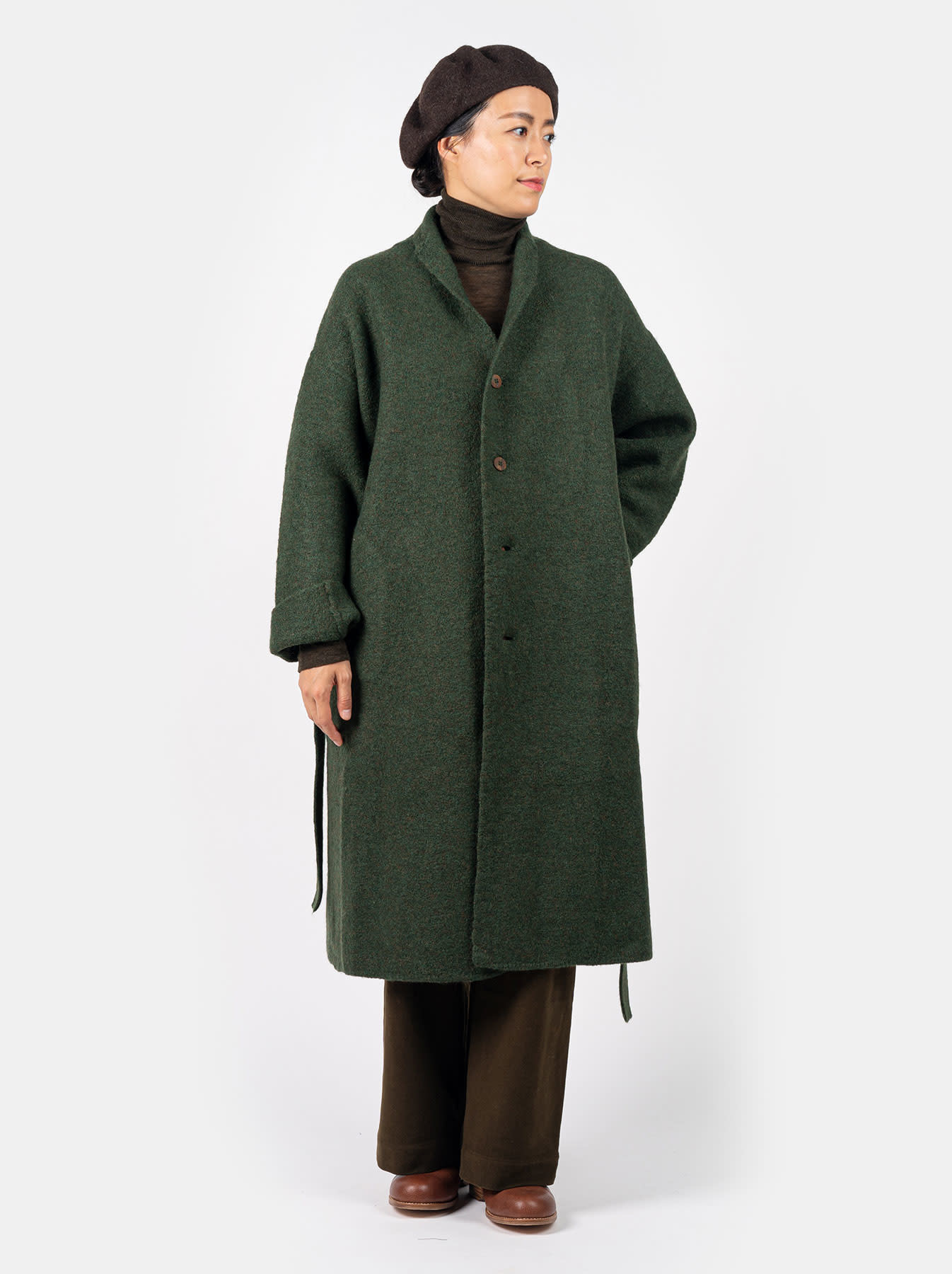 Boiled Knit Coat-5