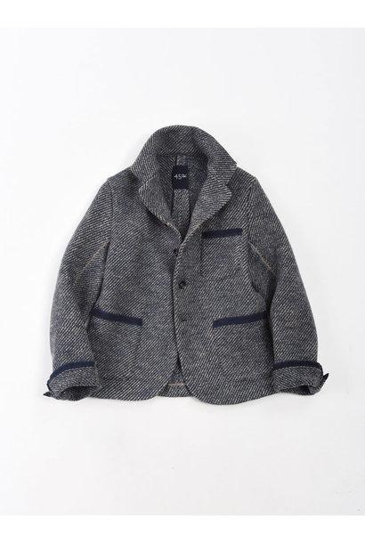 Denim Tweed Knit Jacket