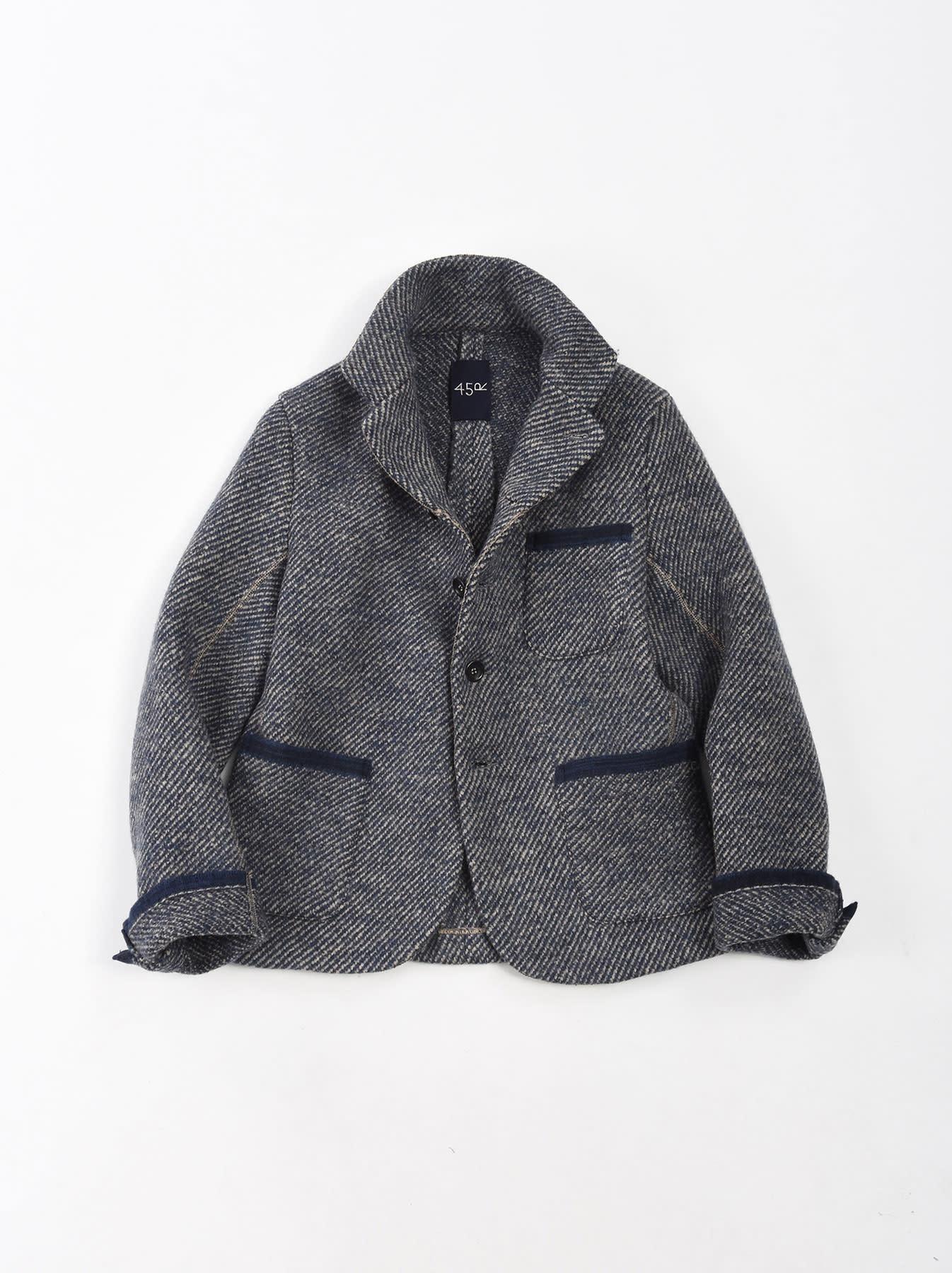 Denim Tweed Knit Jacket-1