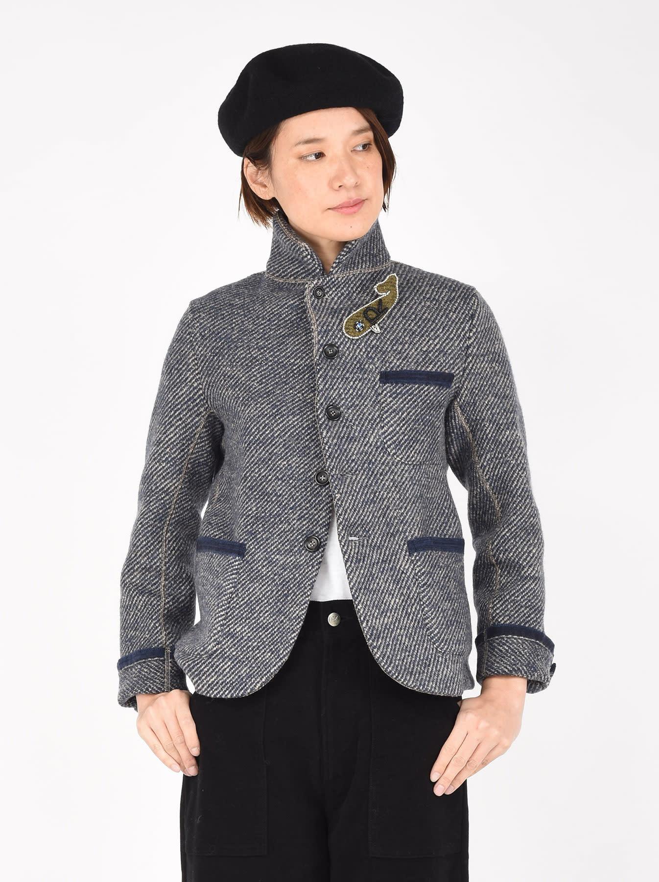 Denim Tweed Knit Jacket-3