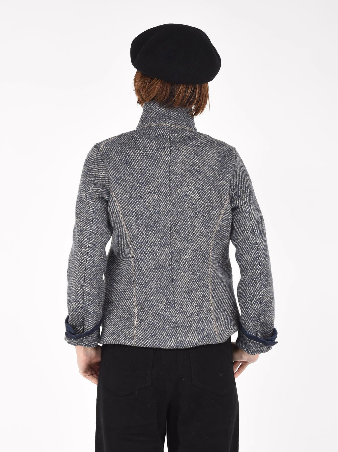 Denim Tweed Knit Jacket-4