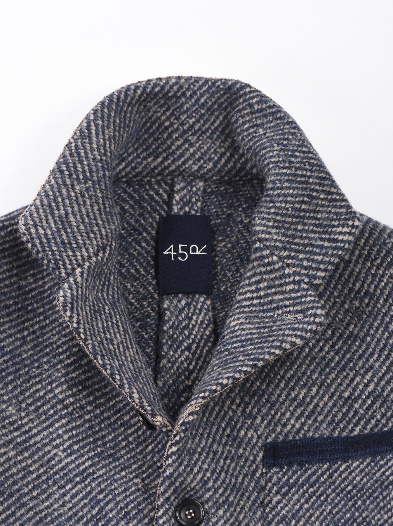 Denim Tweed Knit Jacket-7