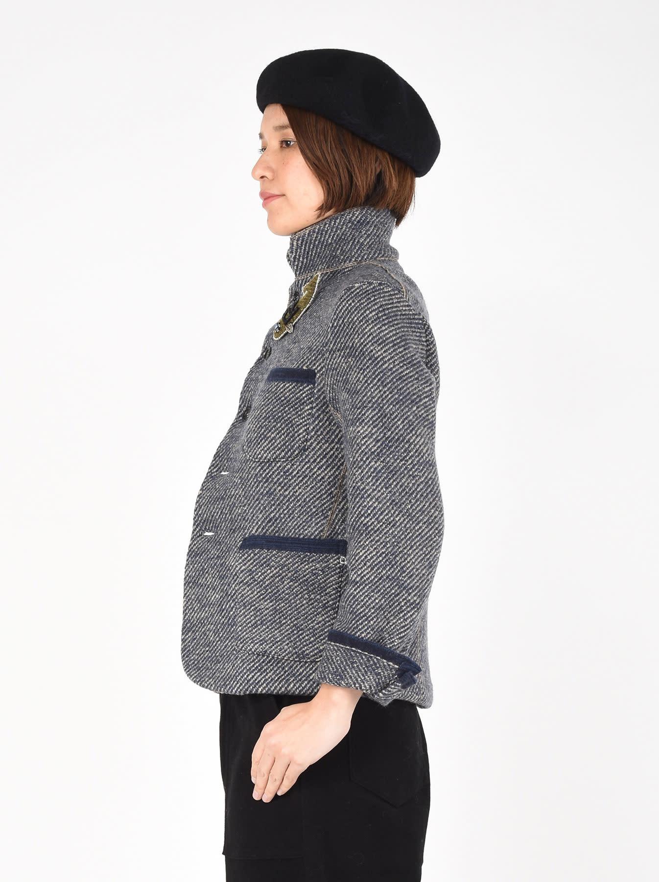 Denim Tweed Knit Jacket-5