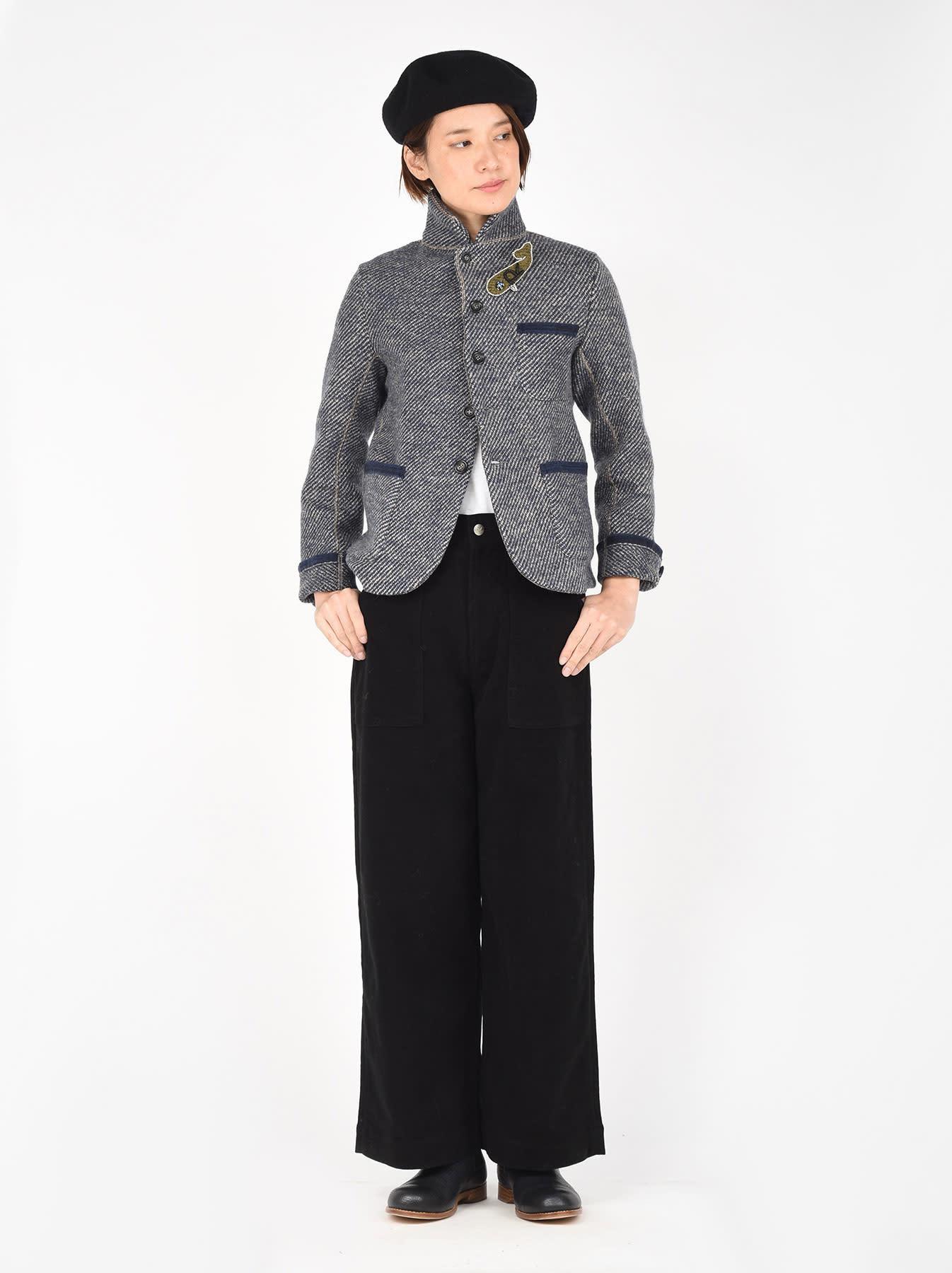 Denim Tweed Knit Jacket-6