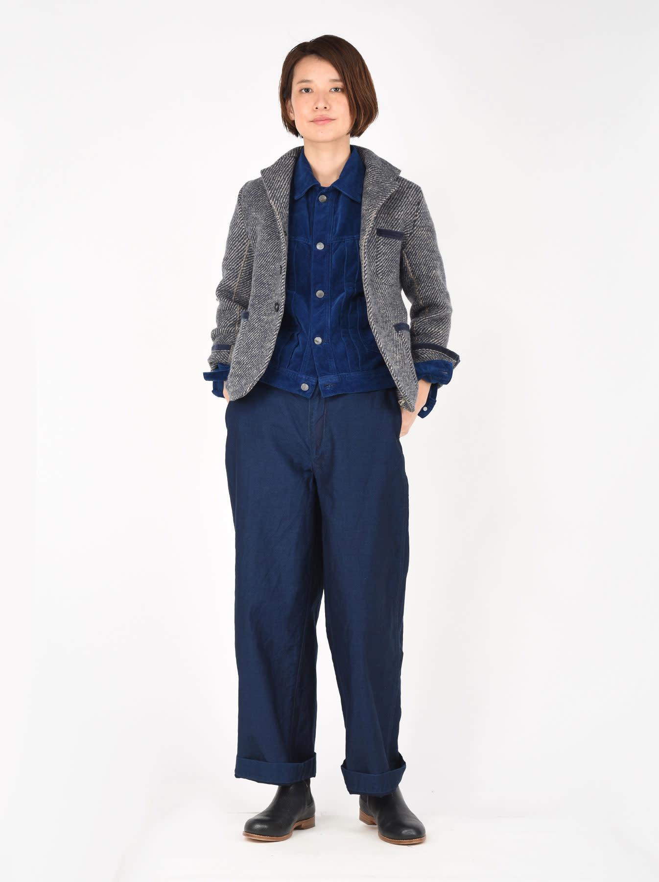 Denim Tweed Knit Jacket-2