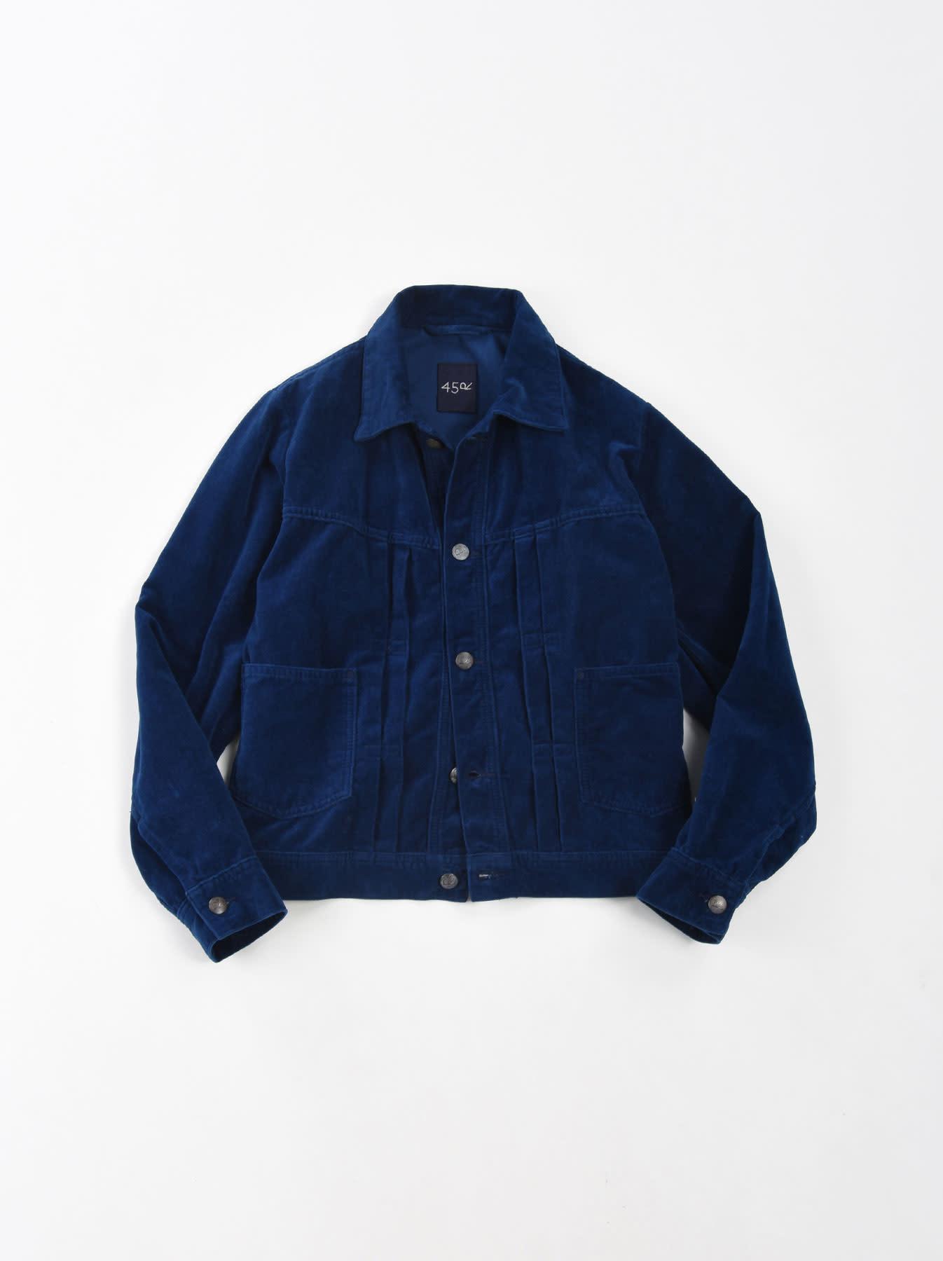 Indigo Velveteen 908 Denim Jacket-1