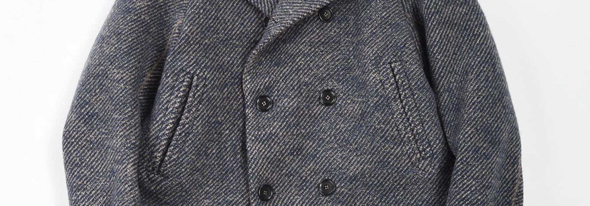 Denim Tweed Knit Coat