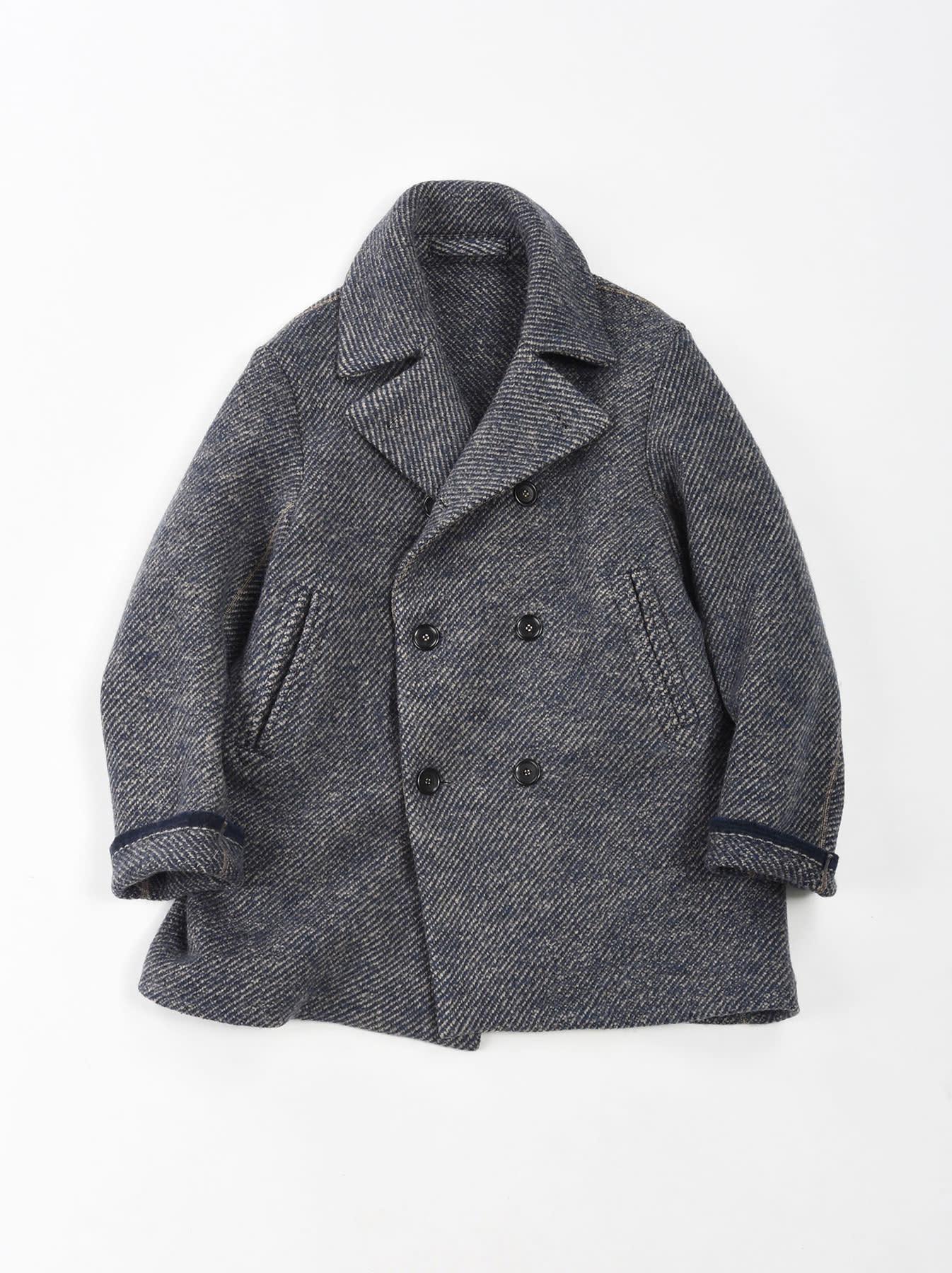 Denim Tweed Knit Coat-1