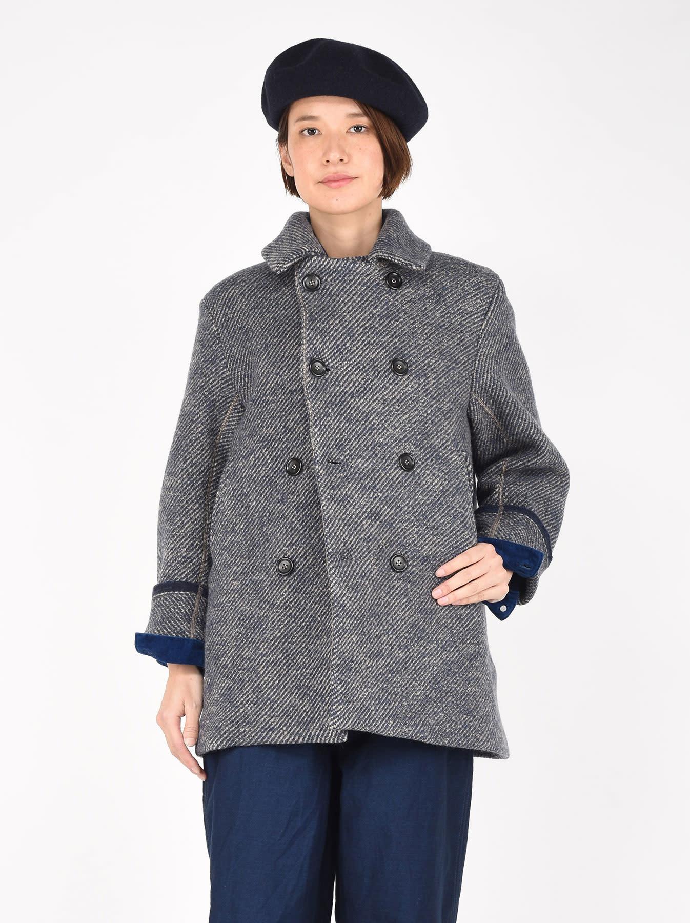 Denim Tweed Knit Coat-3