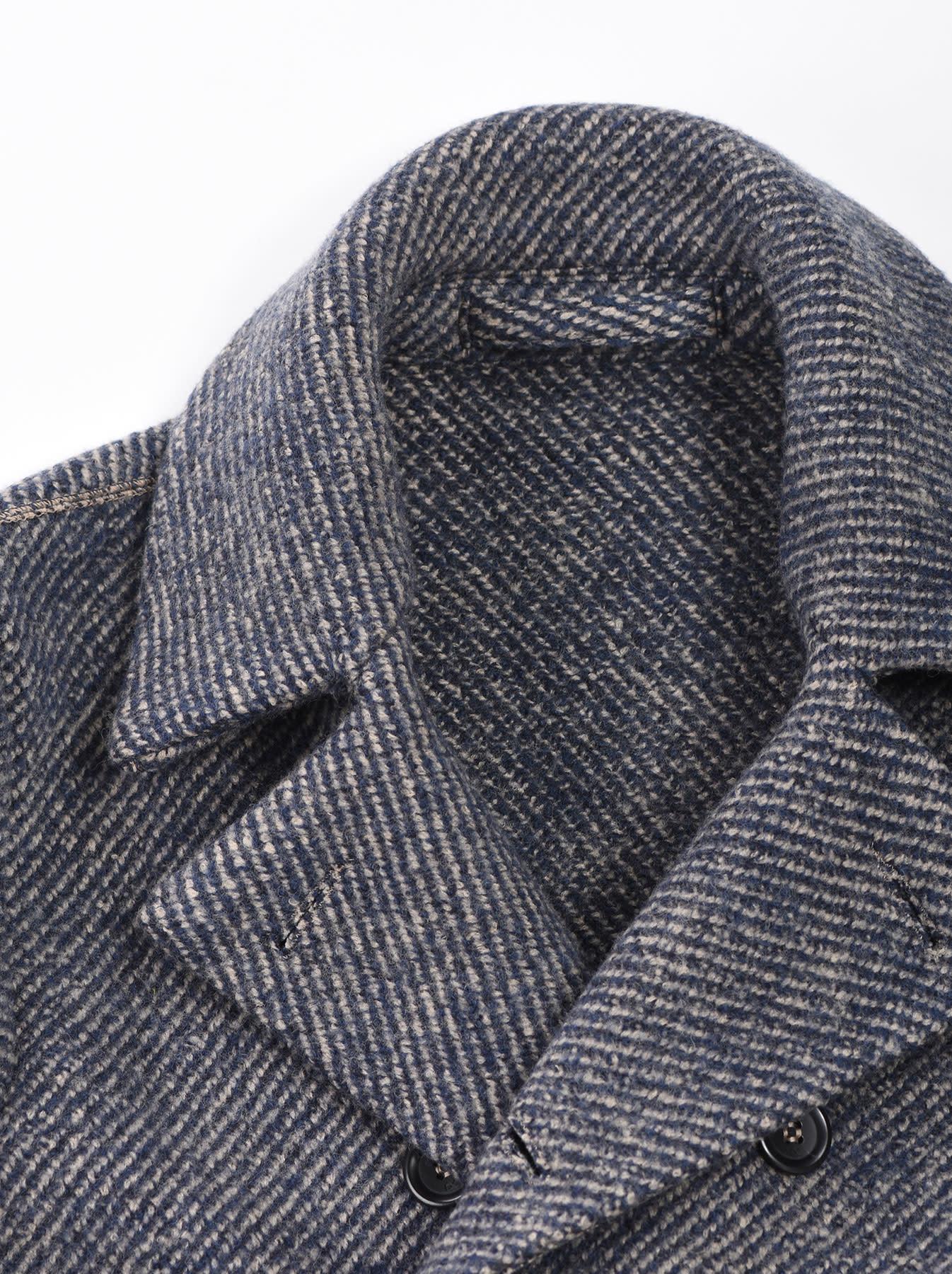 Denim Tweed Knit Coat-6