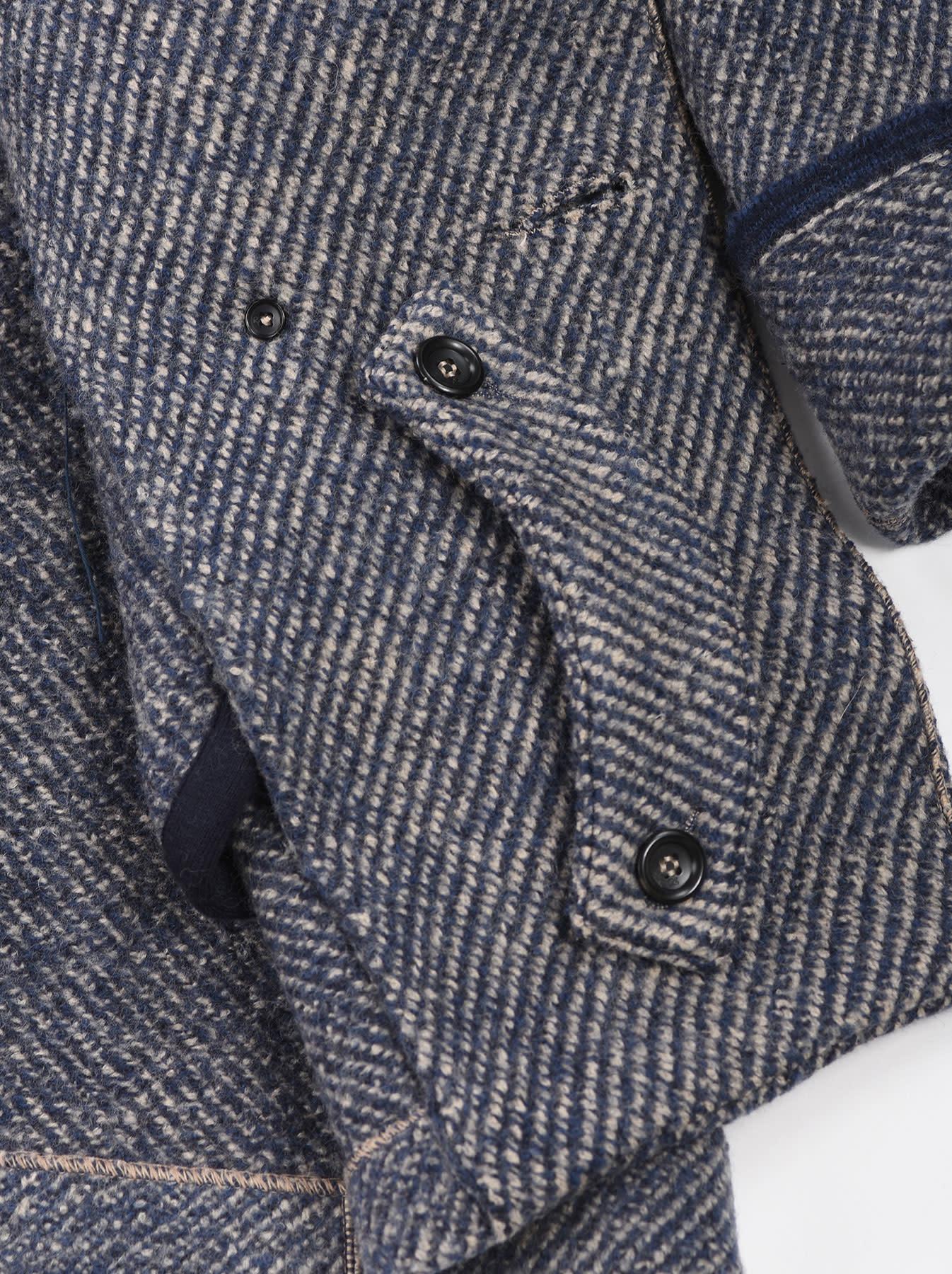 Denim Tweed Knit Coat-9