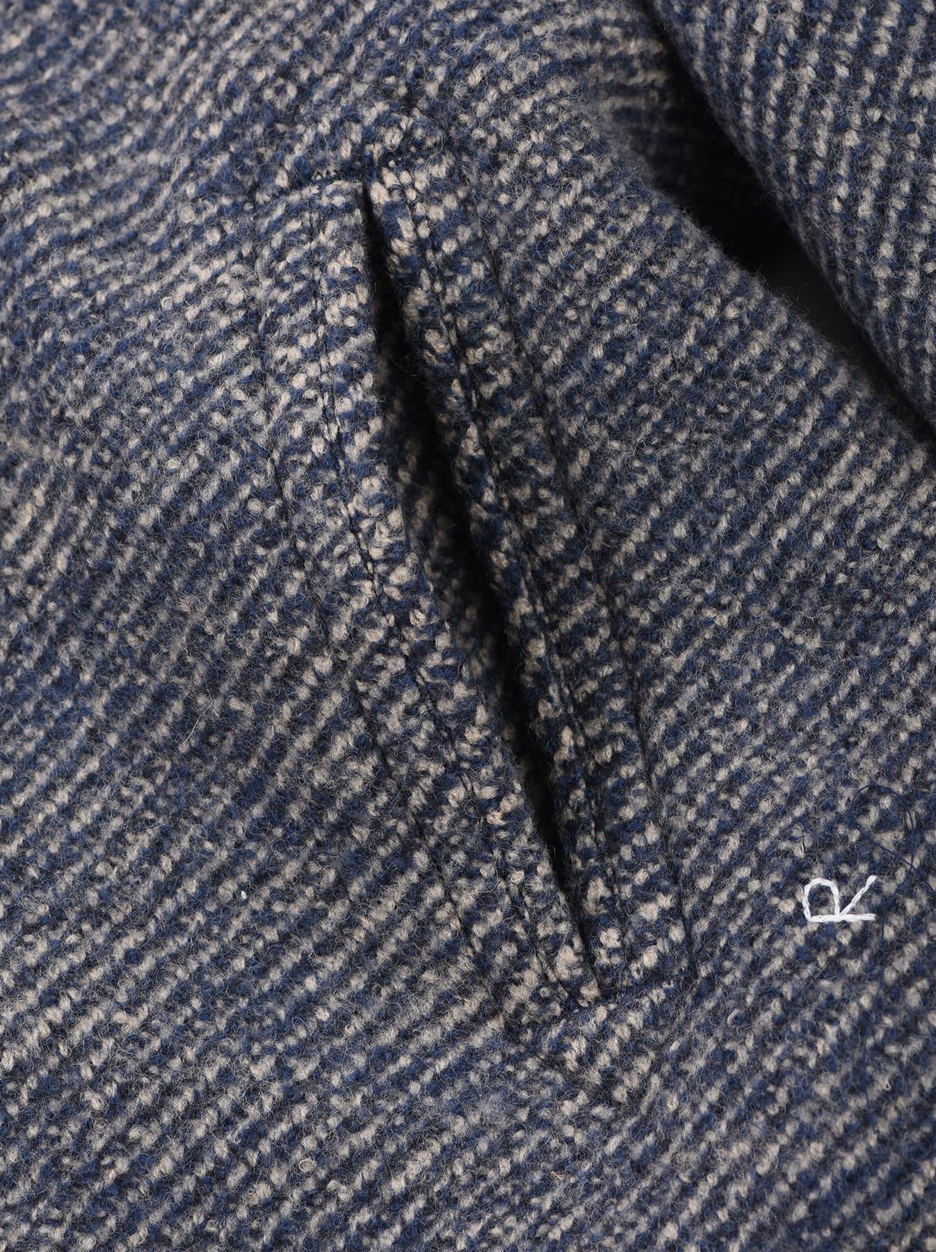 Denim Tweed Knit Coat-10