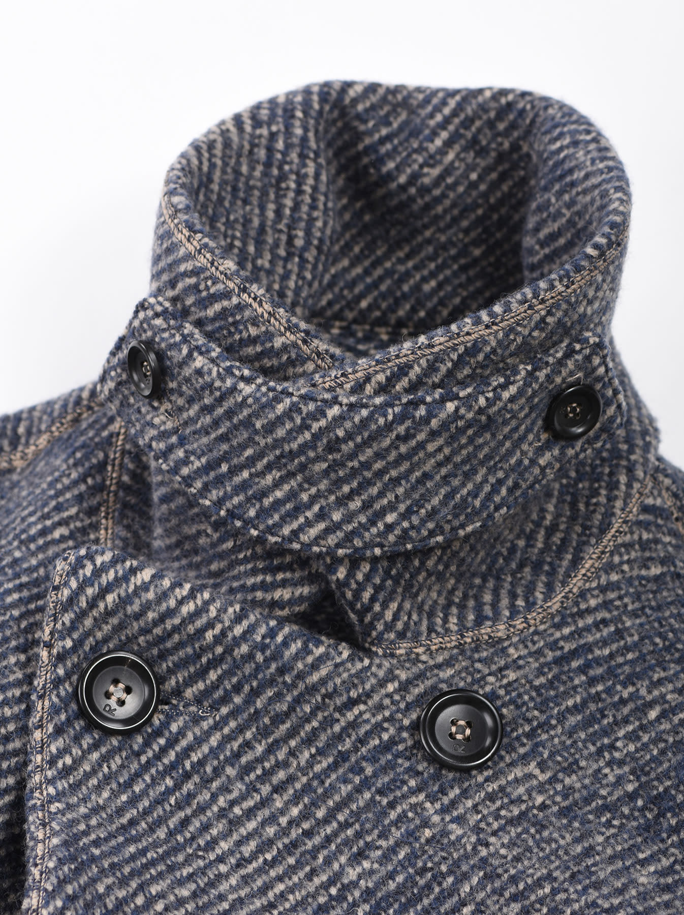 Denim Tweed Knit Coat-7