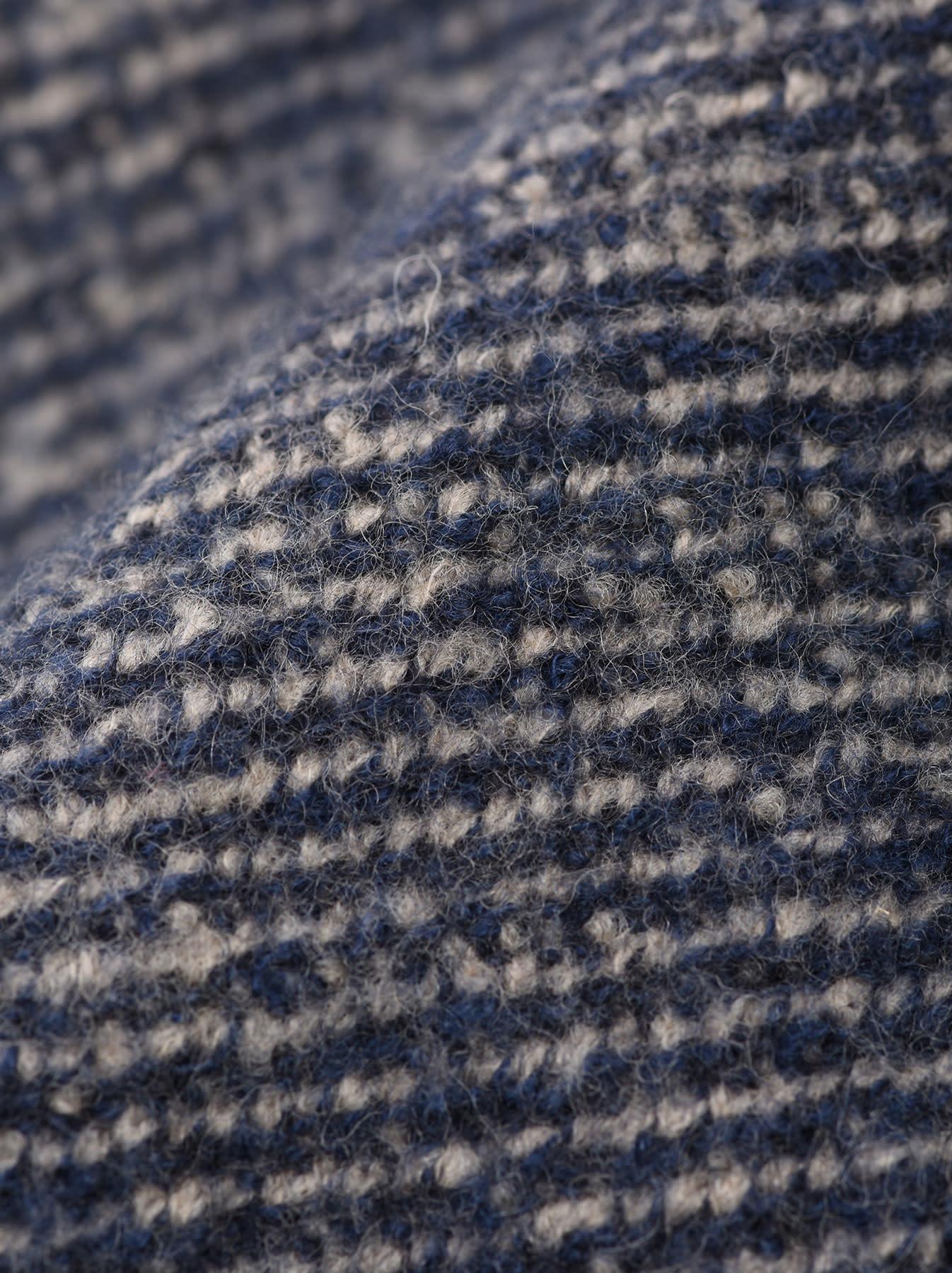 Denim Tweed Knit Coat-11